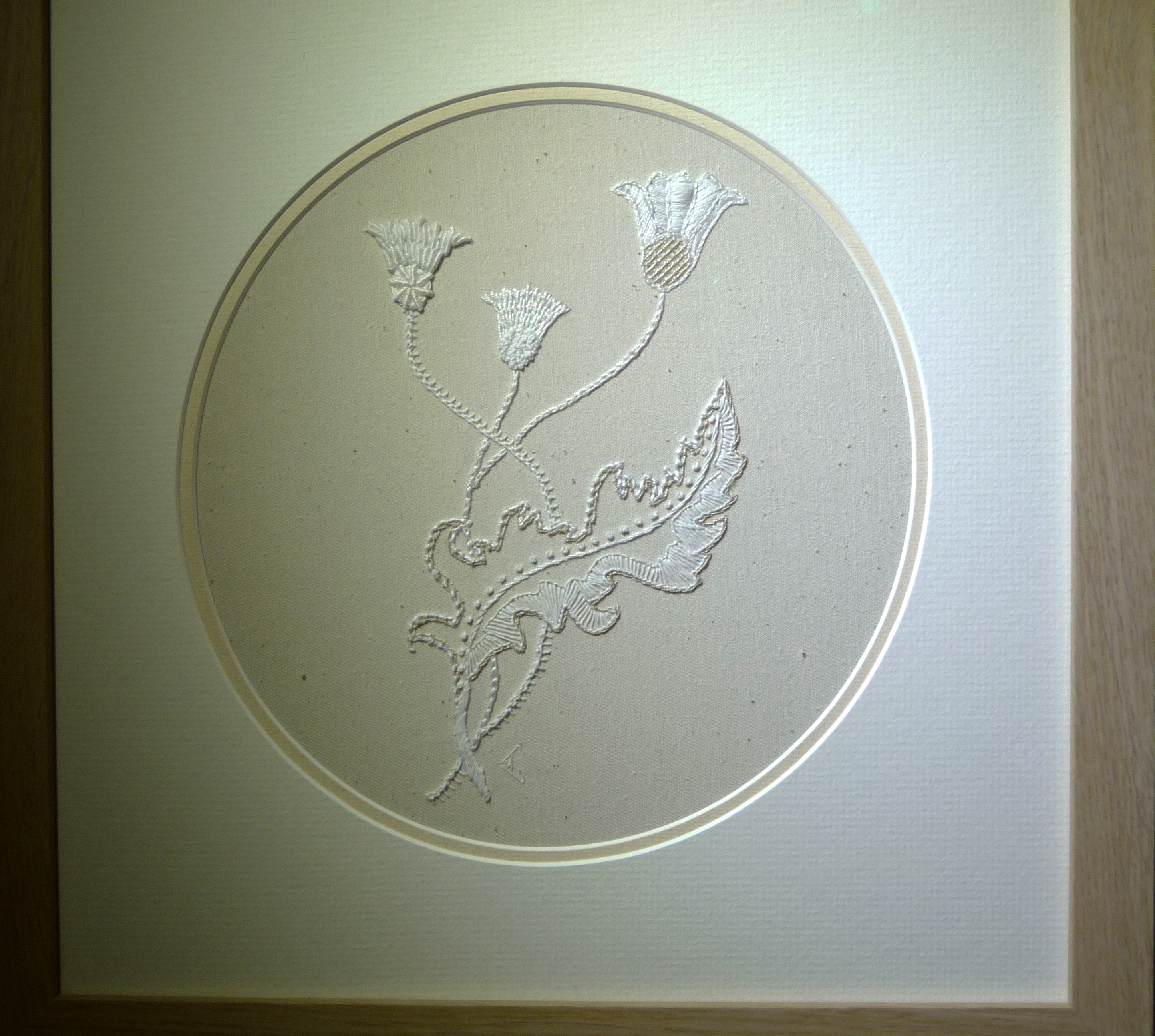 THISTLE TRIO (KIT) by Wendy Cartwright, Mountmellick embroidery