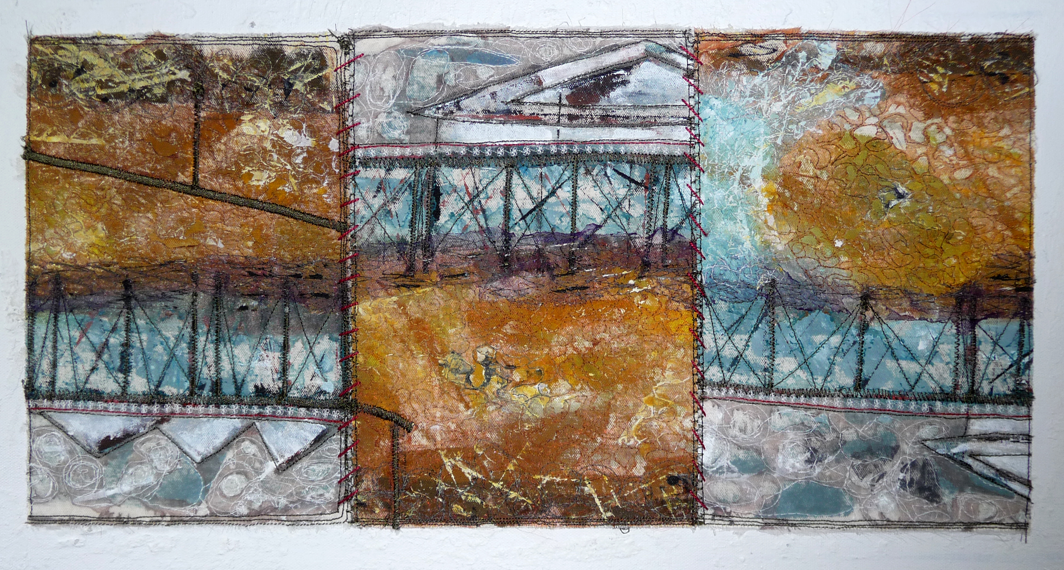 PIER TODAY - GONE TOMORROW by Susan Galllacher, mixed media