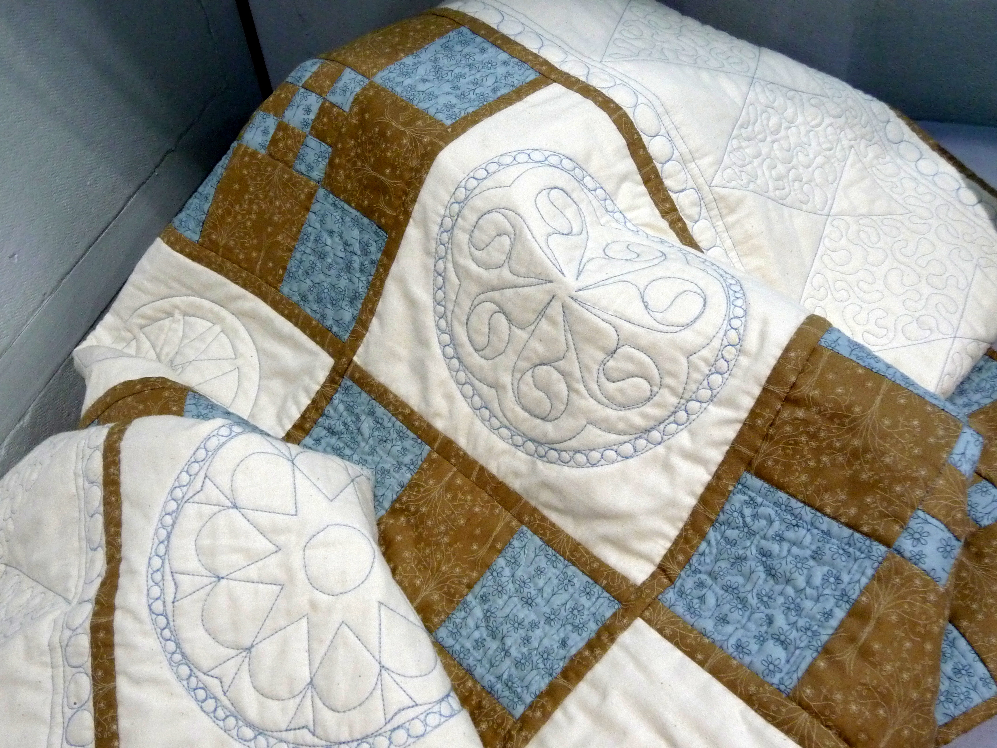 QUILT by Janine Jones, machine stitched and quilted patchwork