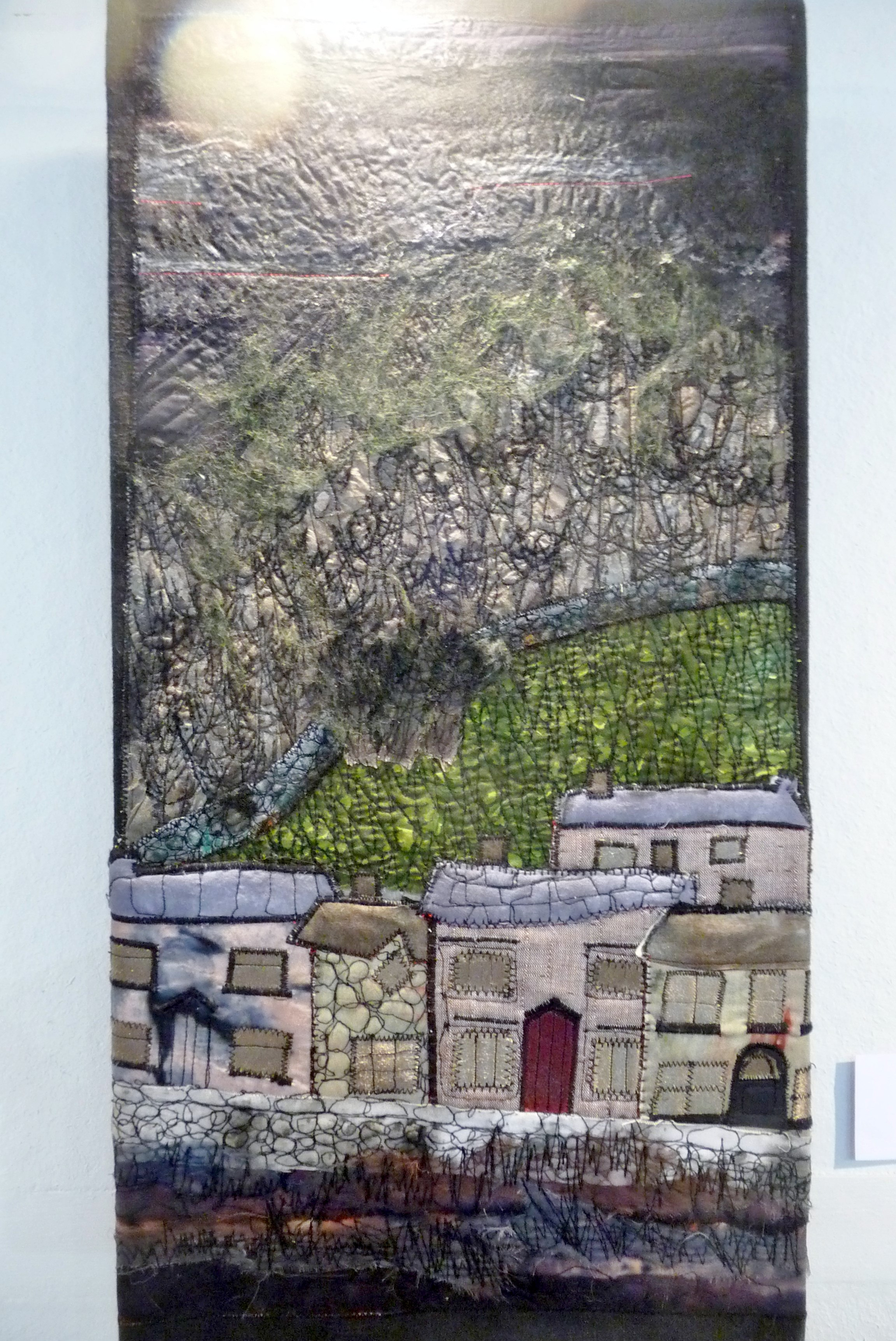 UNDER MILKWOOD by Susan Gallacher, fabric and threads