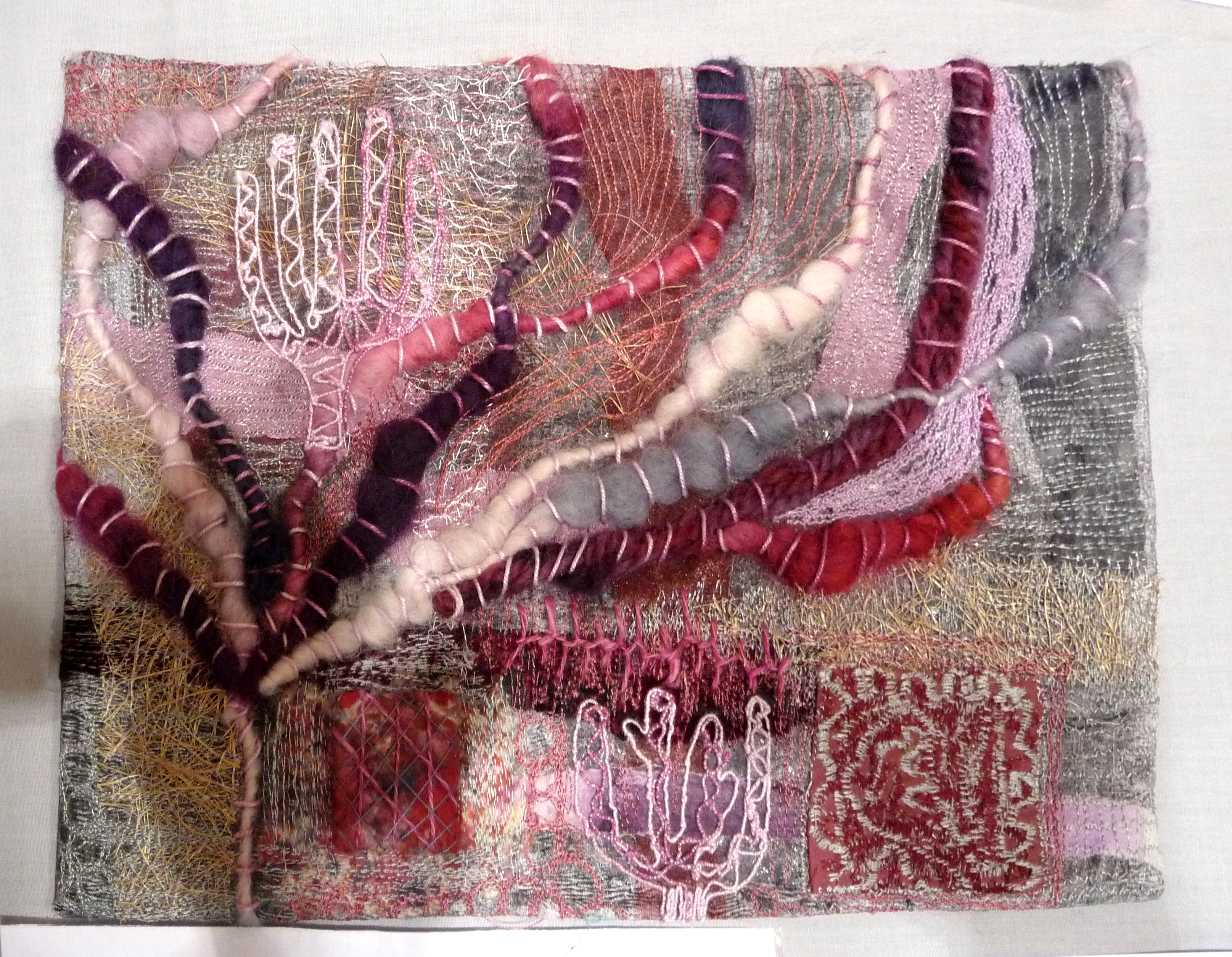 SPANISH MOODS by Roselie Gardner, hand and machine embroidery
