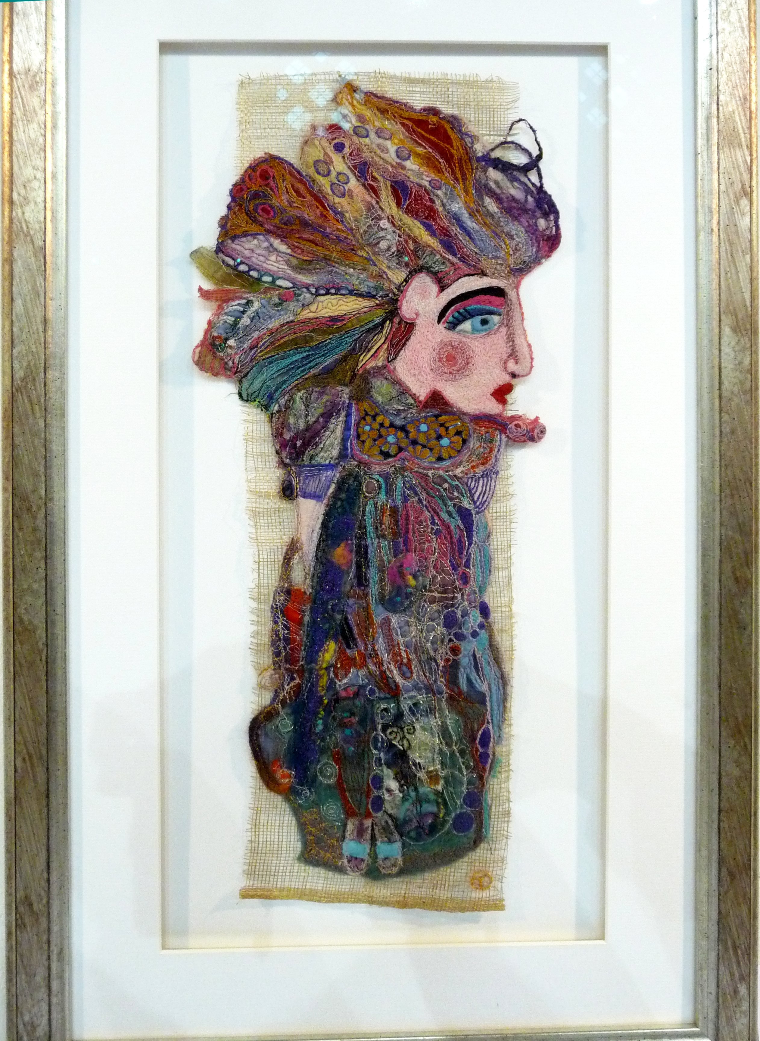 LADY INDIRA by Theresa Fox-Byrne, machine embroidery