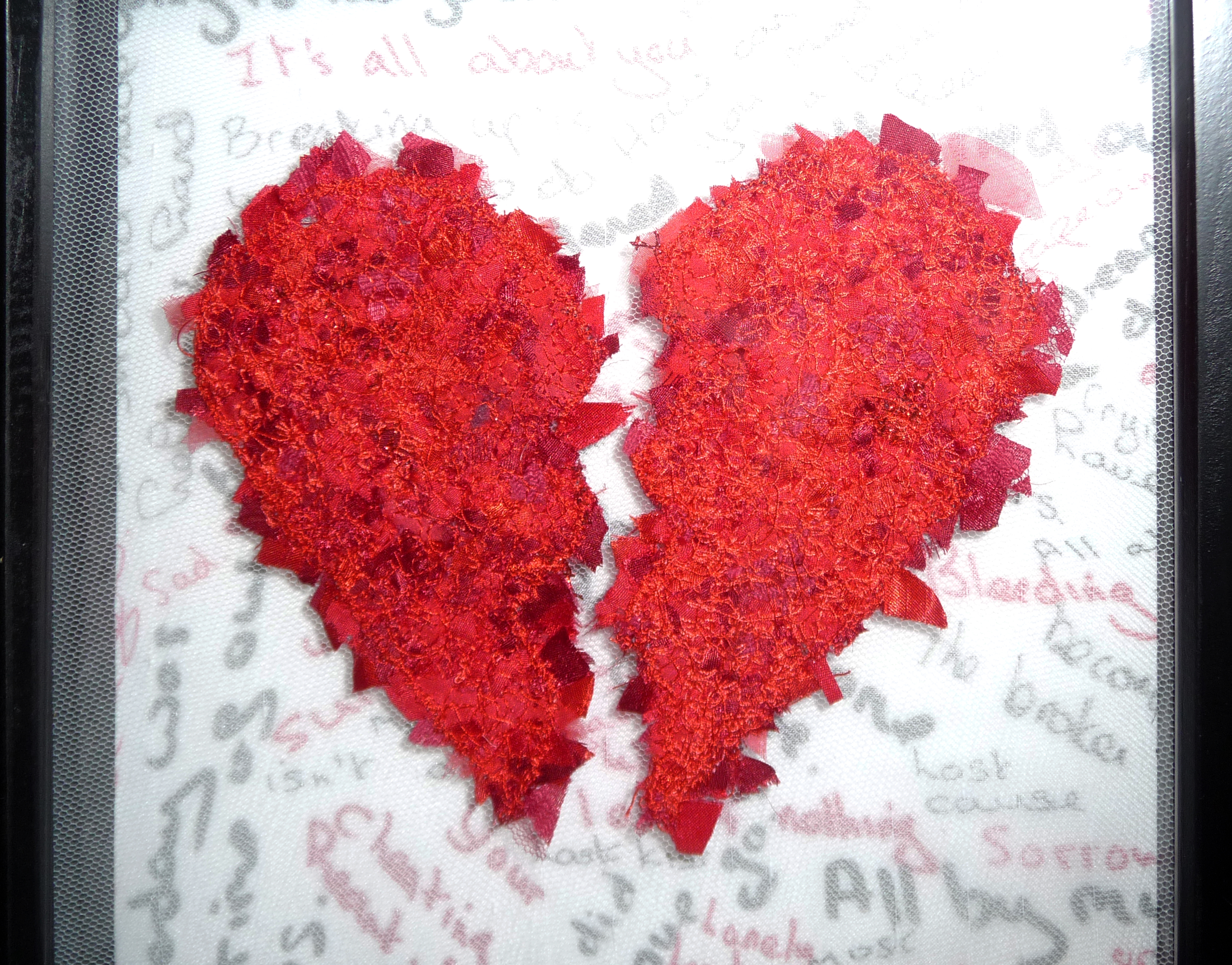 BROKEN HEART by Marilyn Smith, machine embroidery