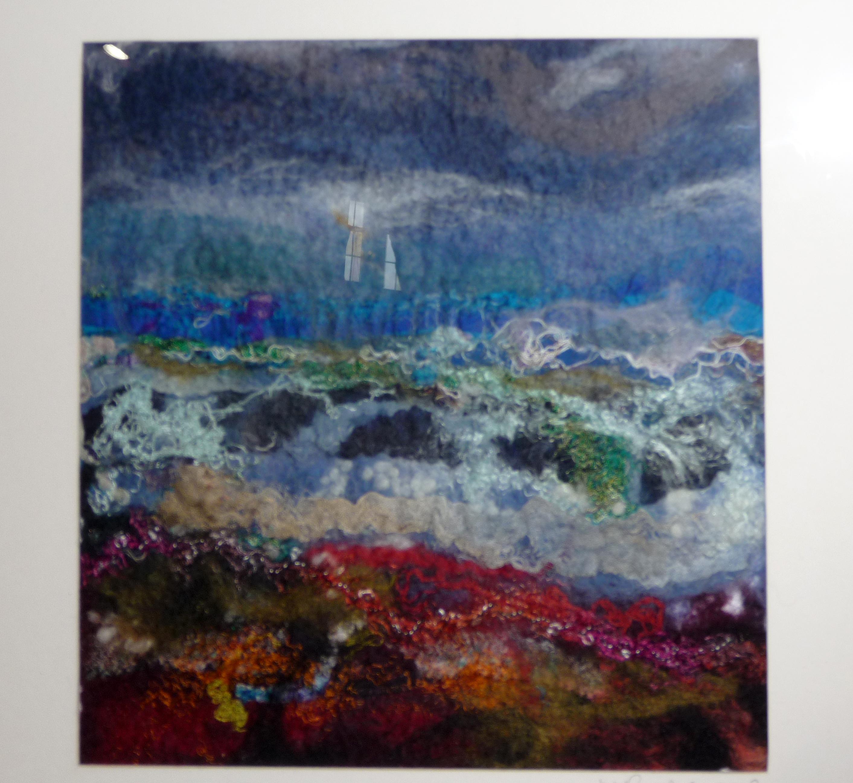 TURMOIL by Miriam Forder, felt and stitch