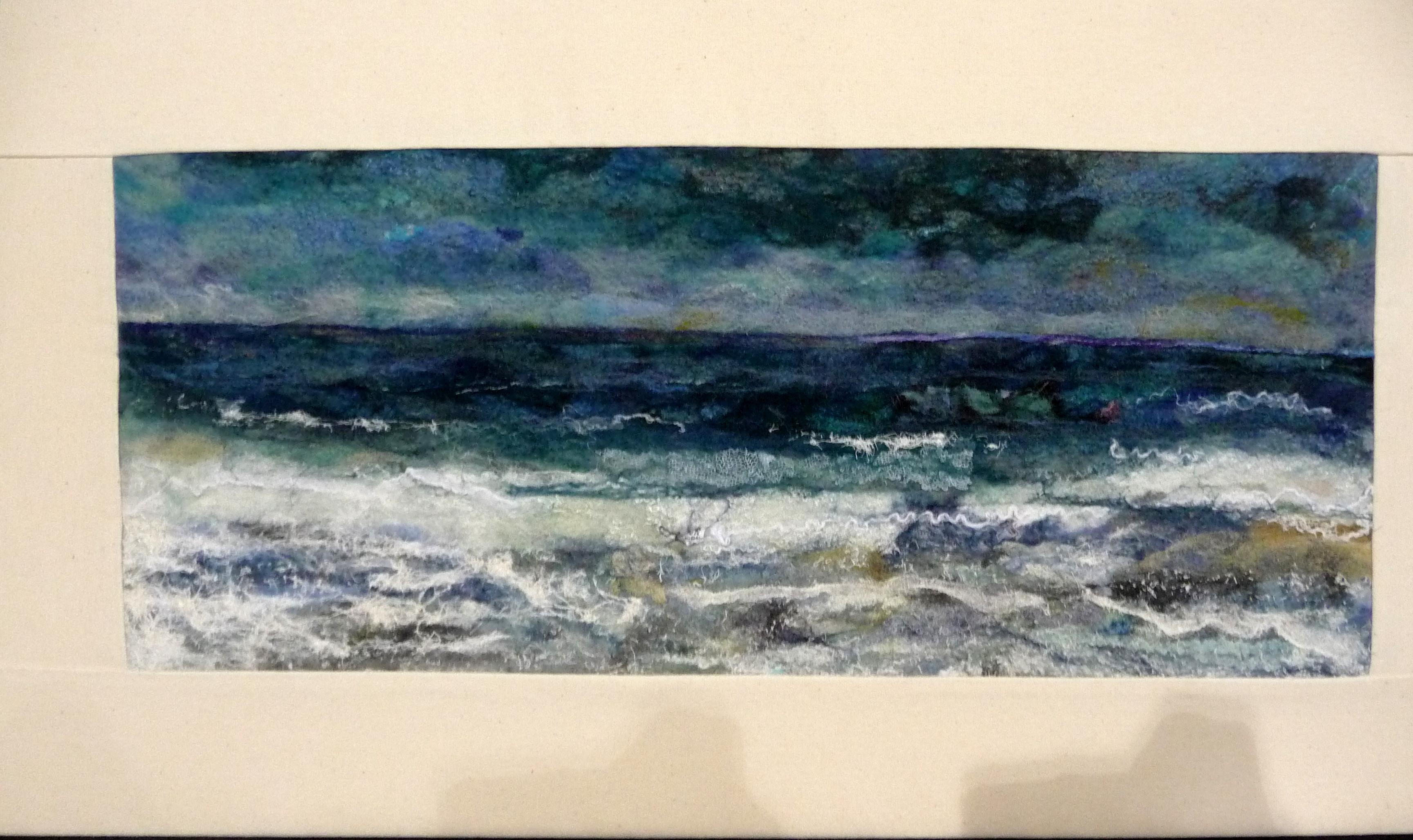 STORMY SEAS by Miriam Forder, felt embellished with stitch