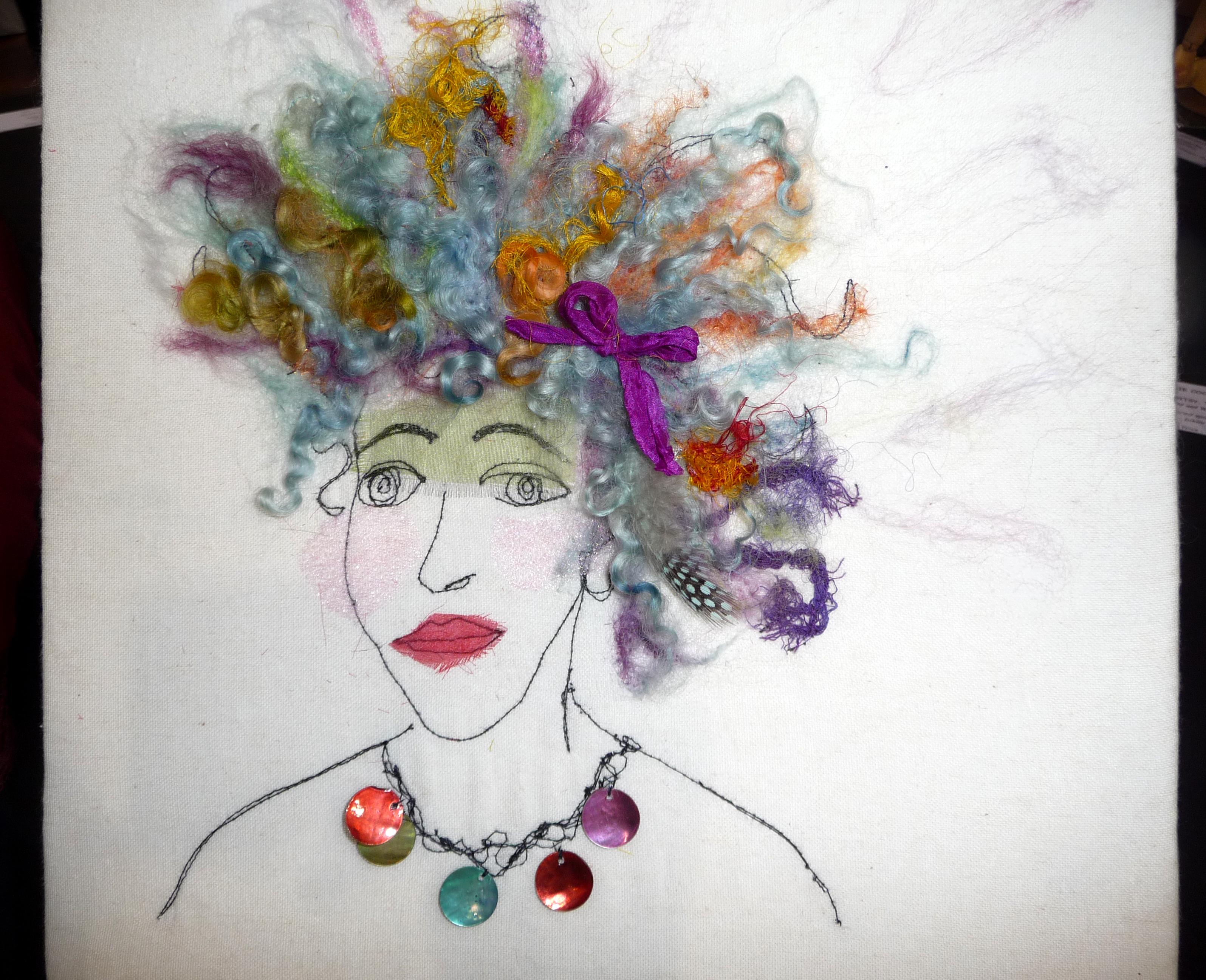 HAIR RAISING, Wild & Wacky, by Marilyn Smith, mixed media