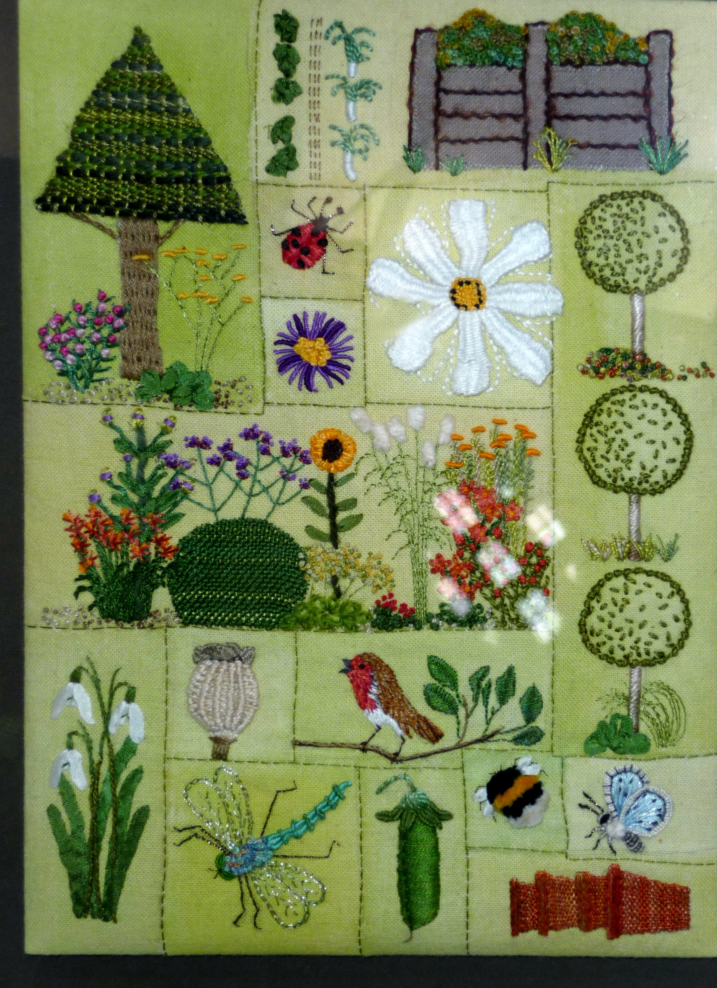 MY GARDEN by Marion Williams, hand embroidery