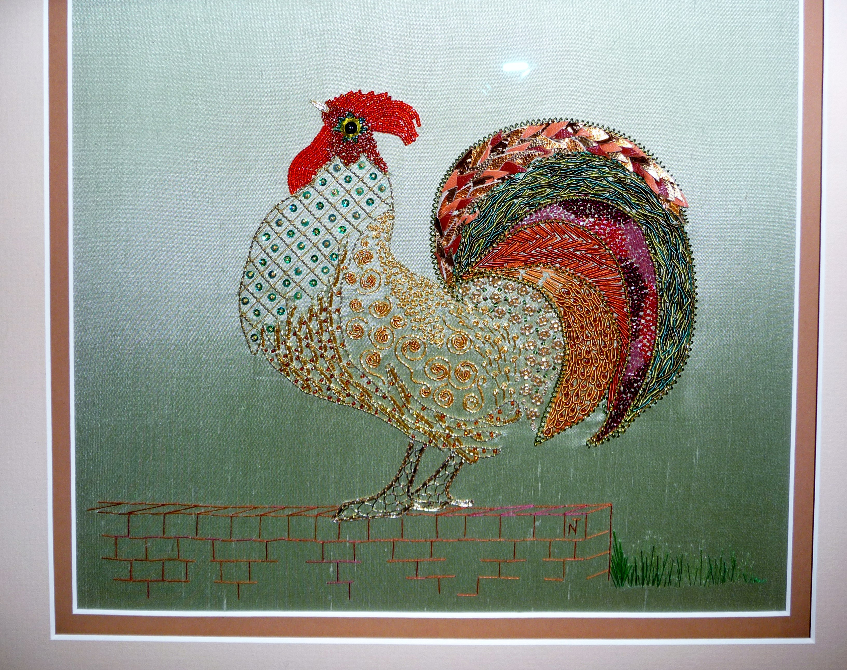COCKERAL by Norma Tanswell, goldwork