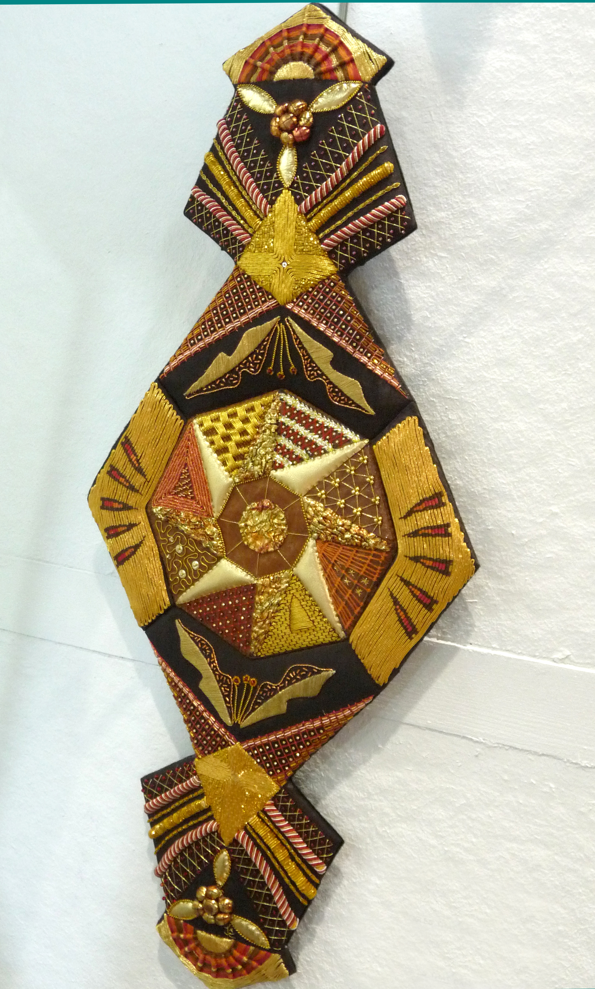 ANGLES THAT DANGLE by Judy Roberts, goldwork