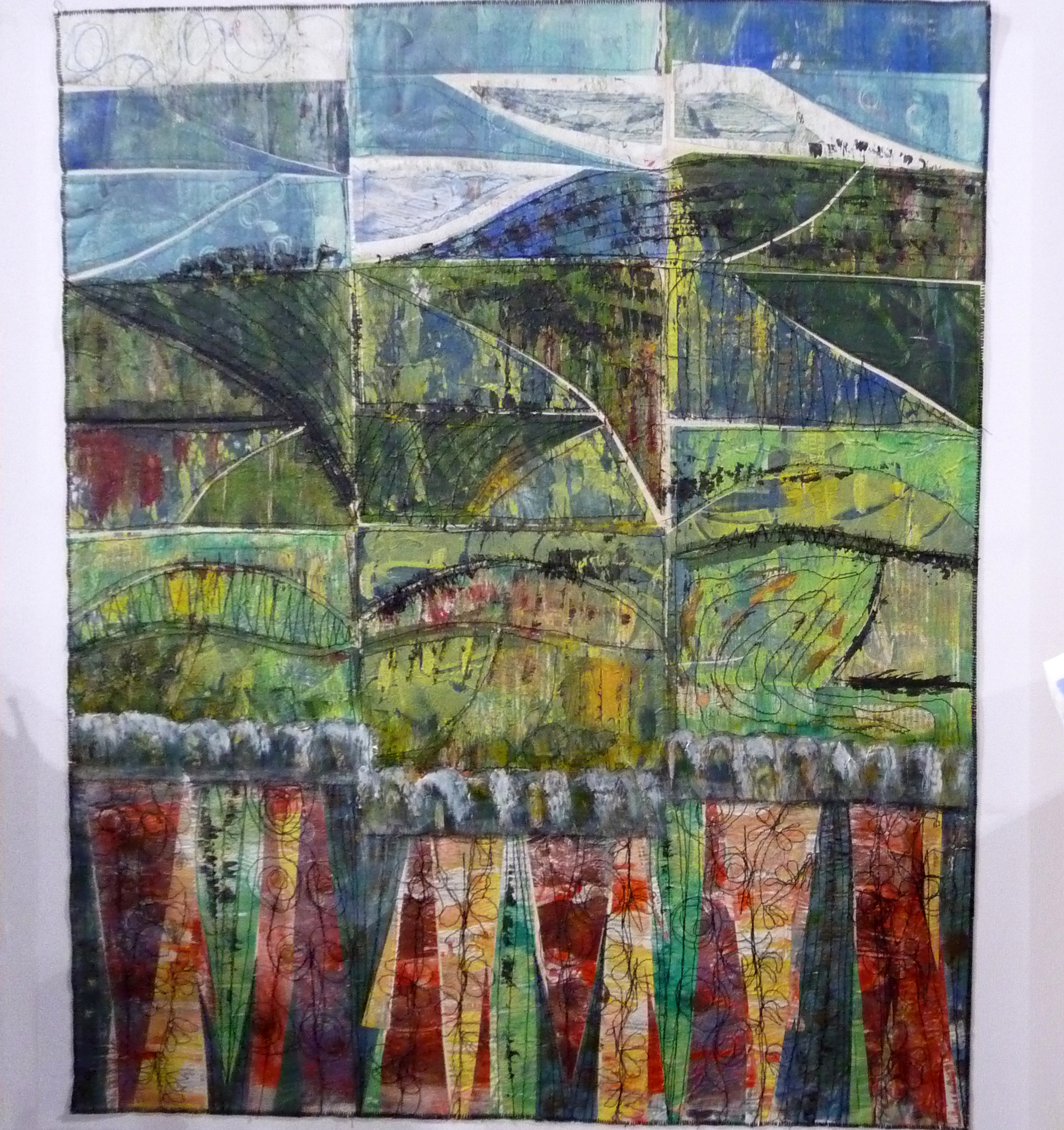 DOLWEN VIEW, Wild & Wacky, by Susan Gallacher, mixed media, acrylic, newspaper, plywood