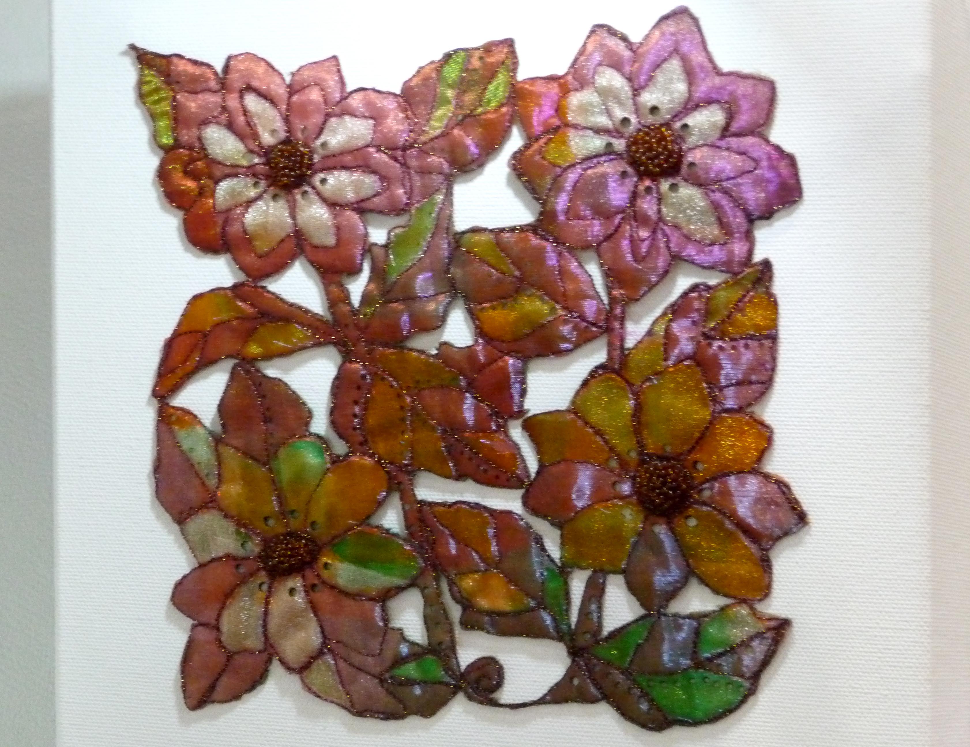 AUTUMN DELIGHT by Pamela Headon, free machine embroidery
