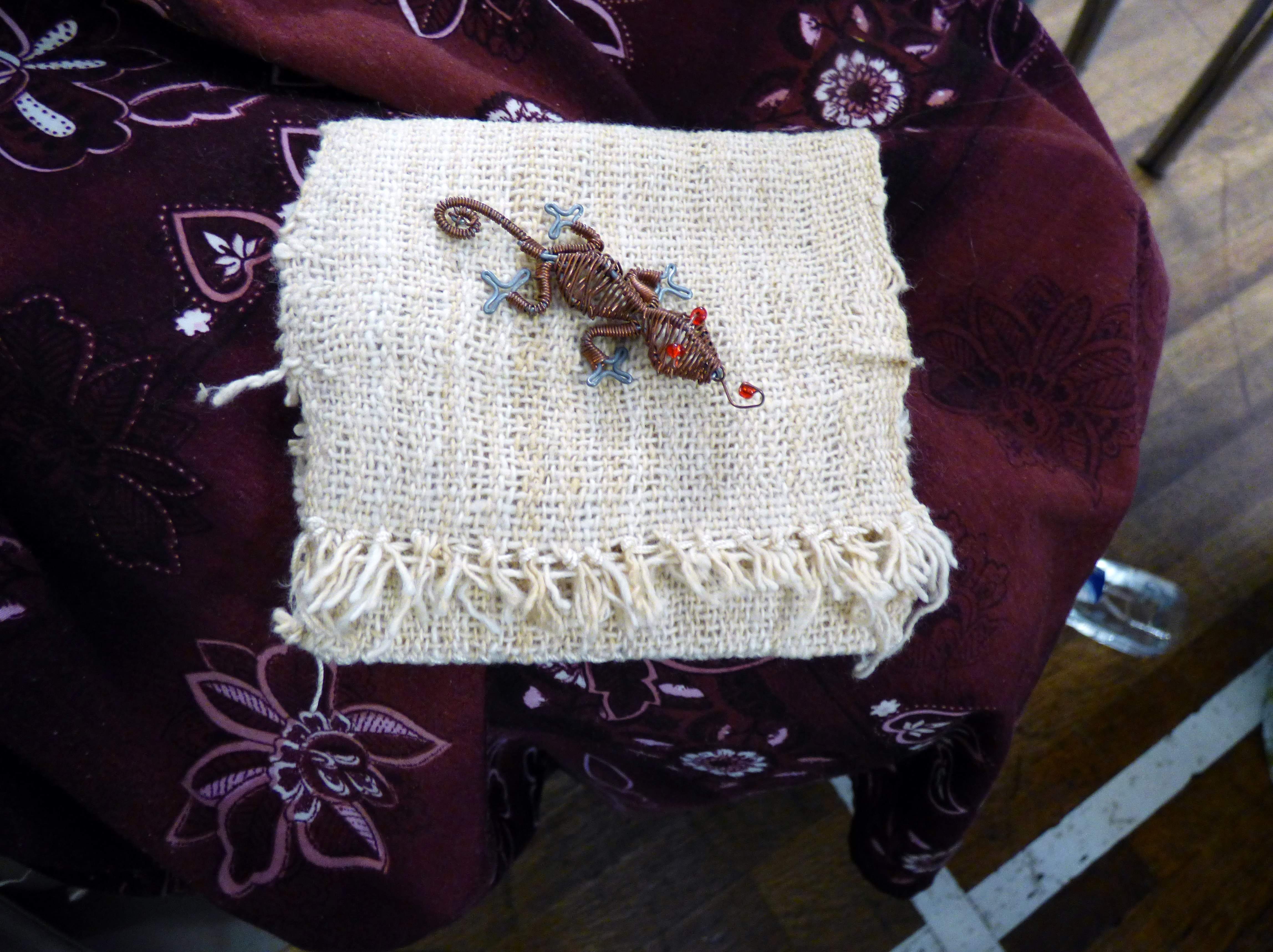 """student's work at """"Creative with Strip Cloth"""" workshop with Magie Relph, September 2016"""