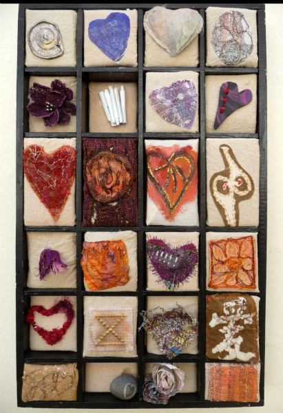 A BOX OF LOVE by Gill Alleyne, mixed media