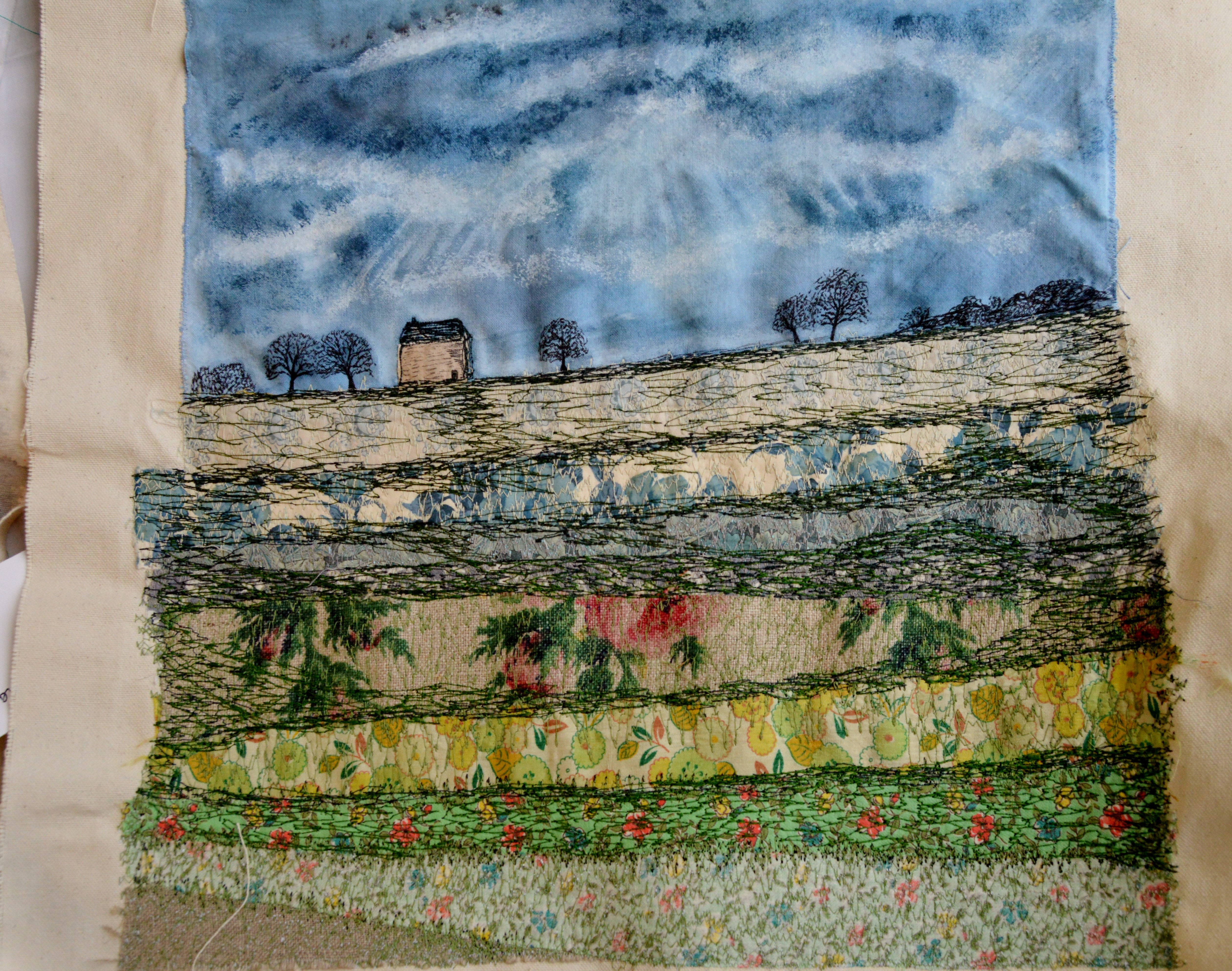 applique and machine embroidery by Deborah  McLennon-Riches