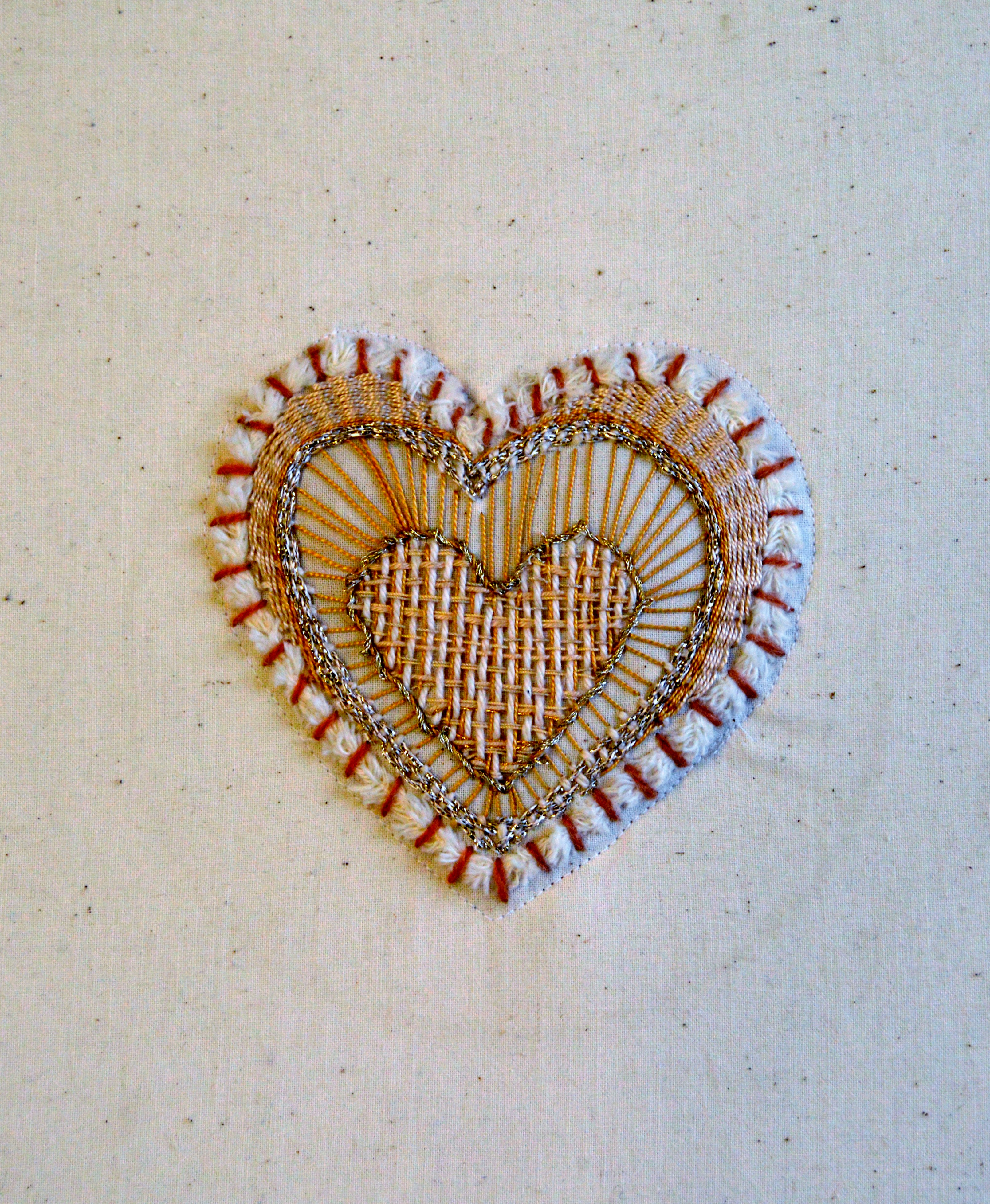 embroidery sample by Deborah  McLennon-Riches