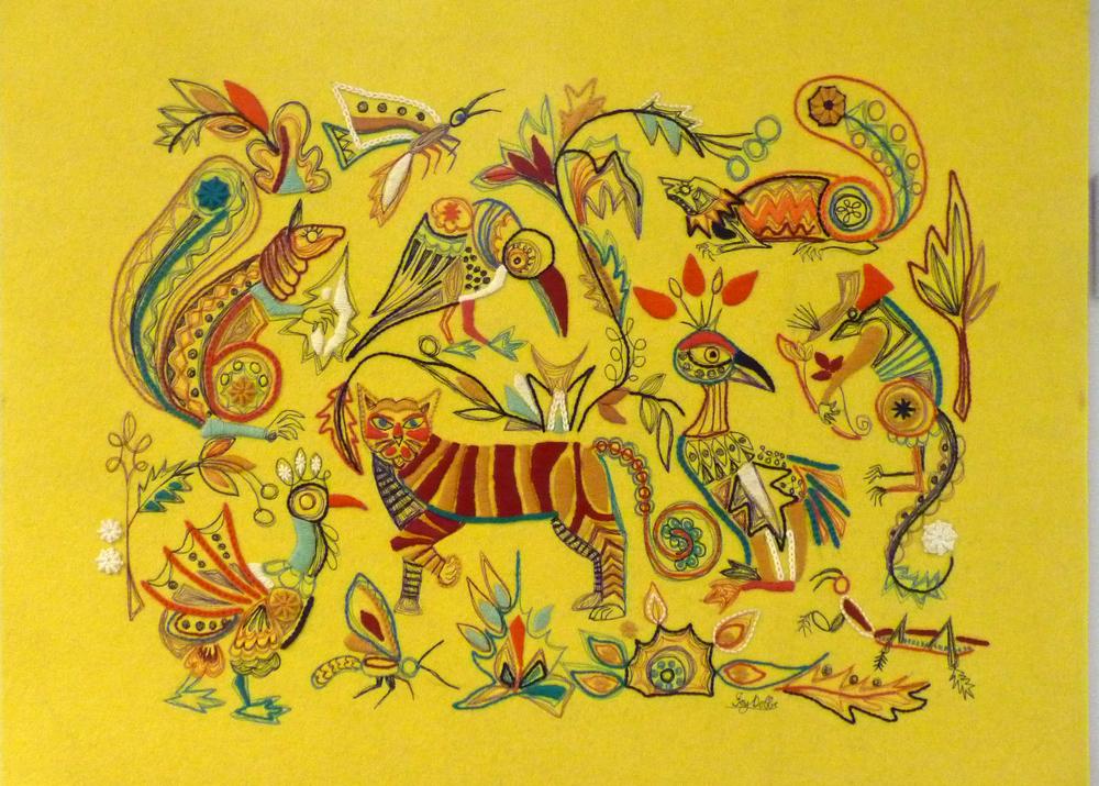 Zoo animals by Joy Clucas nee Dobbs, 1950