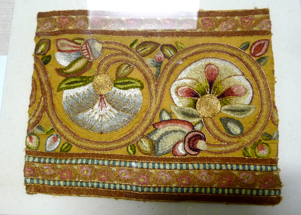 Leek Embroidery fragment, UK 19th century