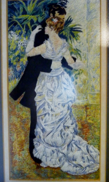 DANCING IN THE CITY (after Renoir), polyester thread