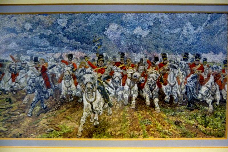 SCOTLAND FOREVER (after Lady Elizabeth Butler), polyester thread