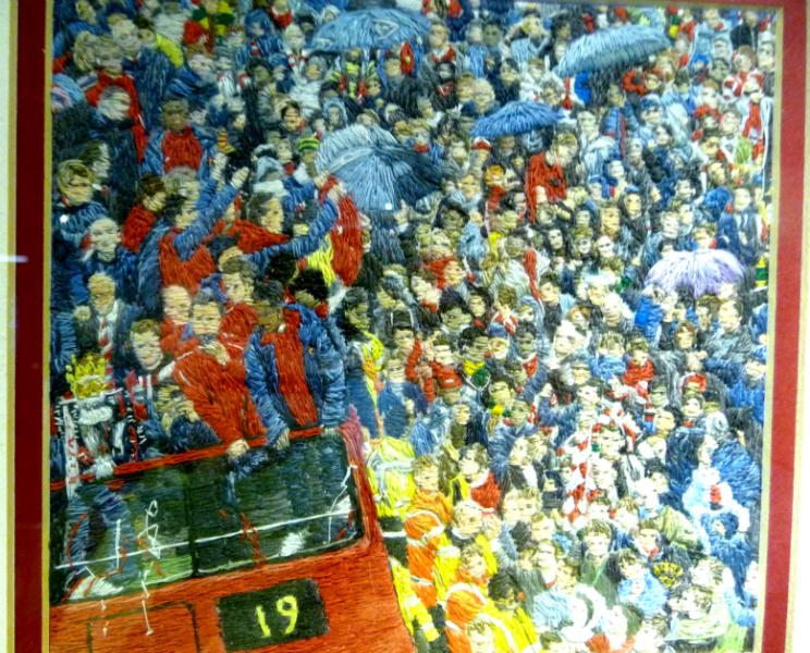 CHAMPIONS \'19\', Winner of Best in Merseyside September 2012, polyester thread