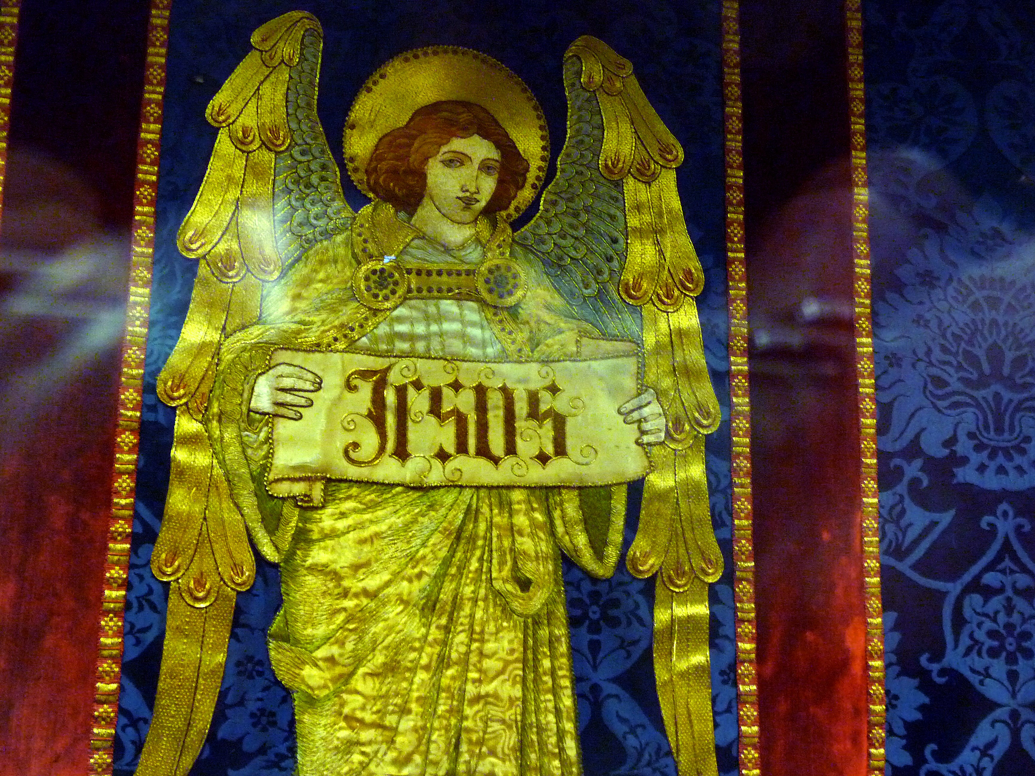 detail of 1905 design for the Lady Chapel worked by members of the Liverpool Cathedral Embroidery Association