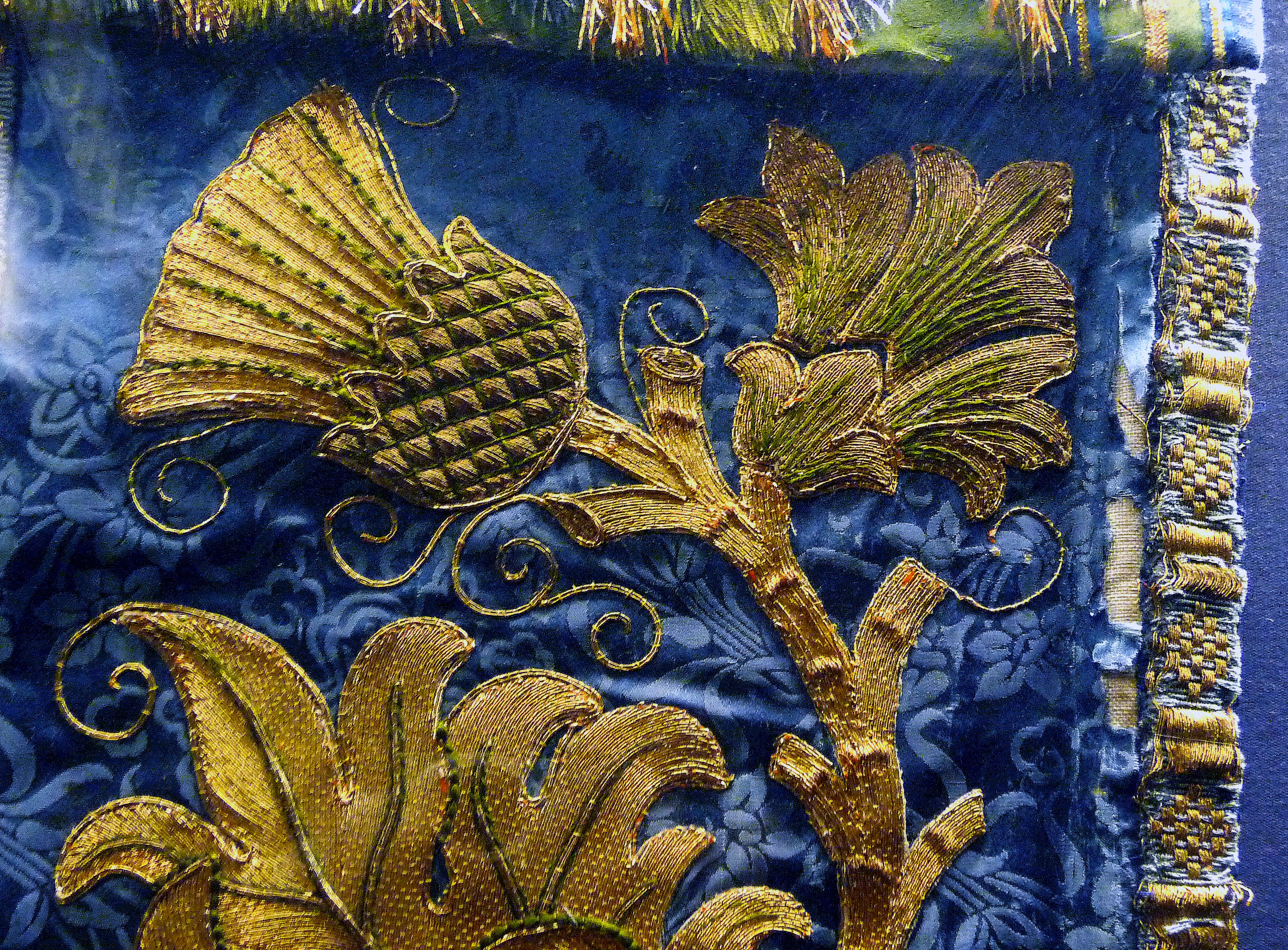 detail of Frontal for the Lady Chapel of Liverpool Cathedral worked by Margaret and Maria Comber between 1906 and 1909. They were members of the Liverpool Cathedral Embroidery Association.