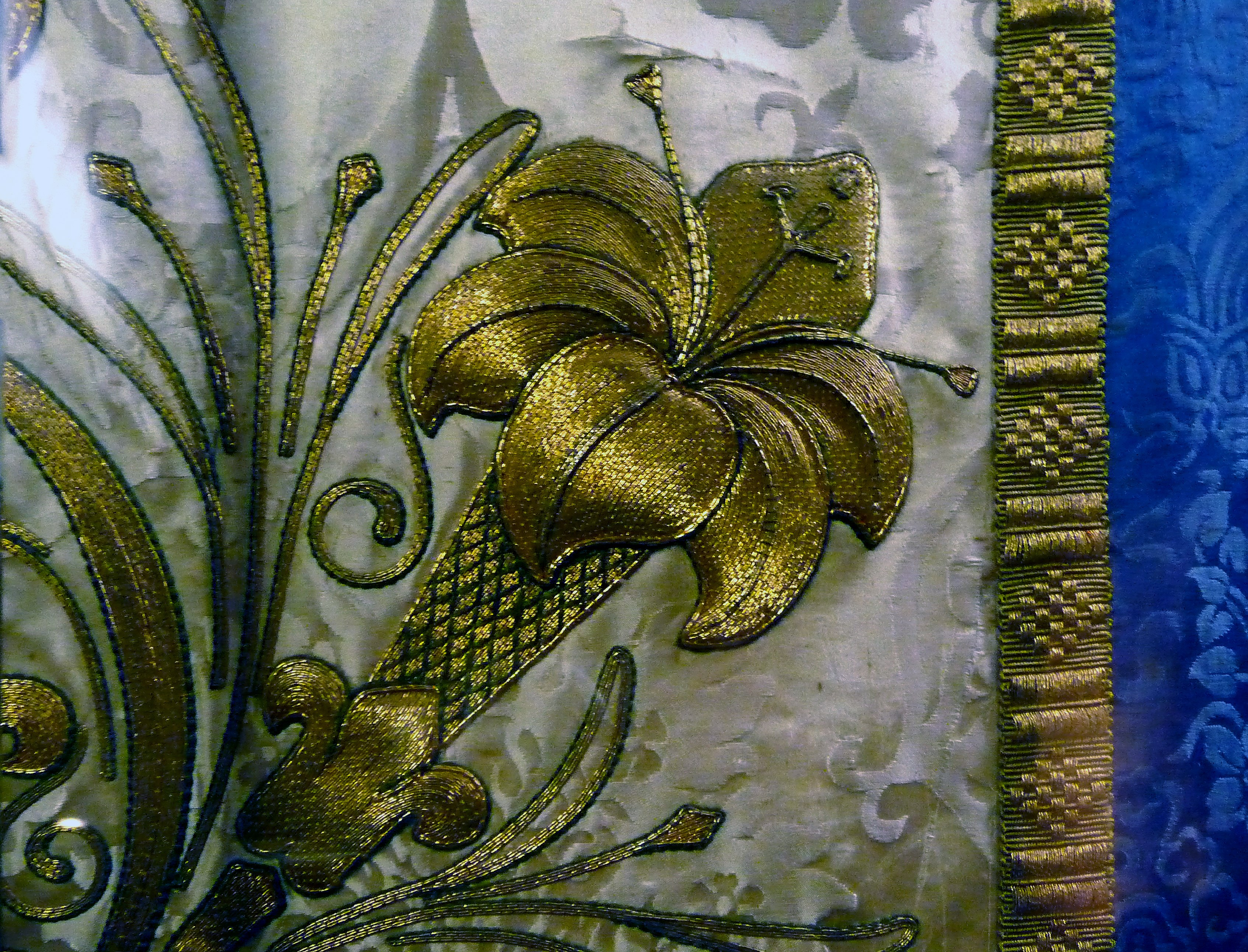 detail of 1903 design by Bodley which was worked by ladies of the Liverpool Cathedral Embroidery Association
