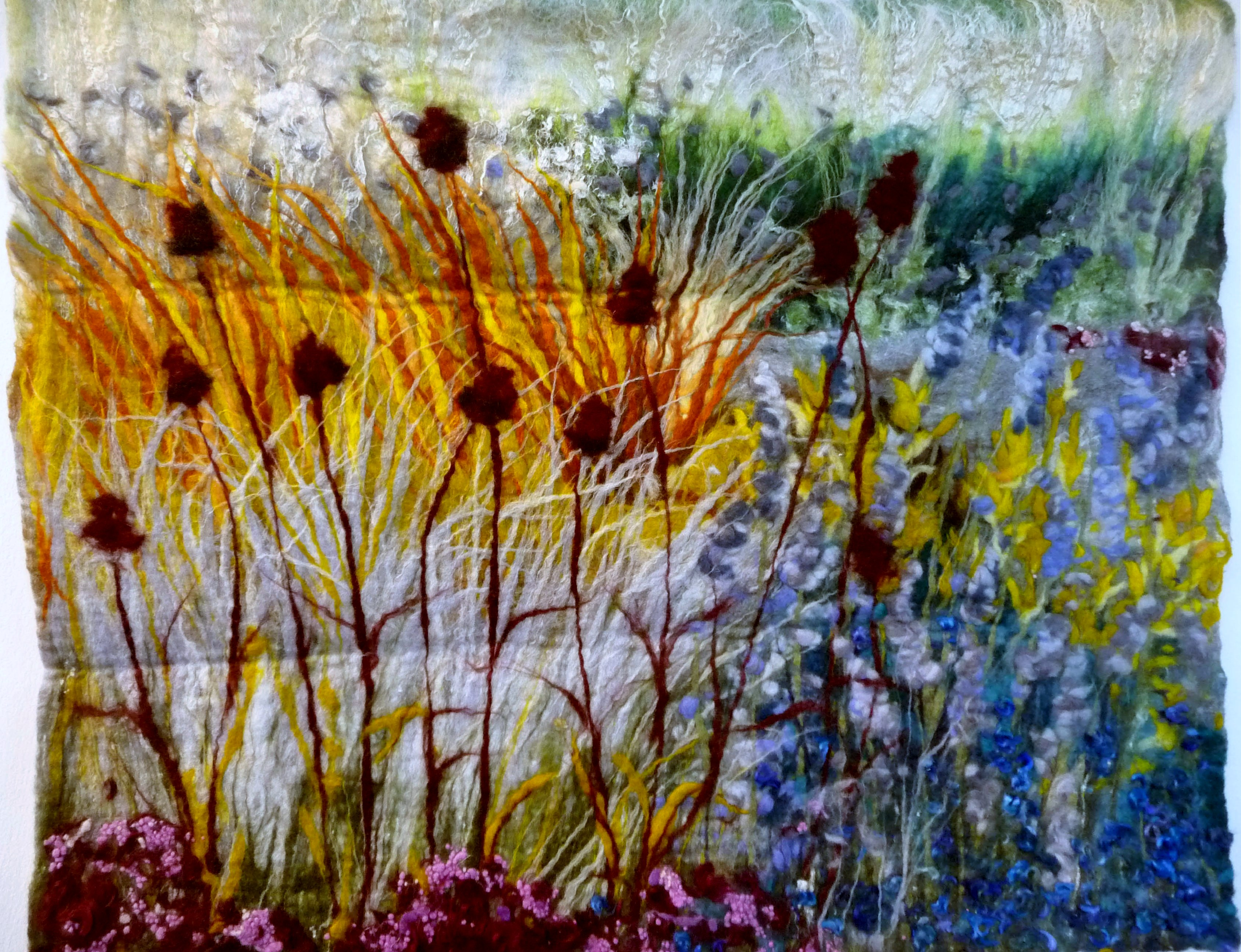 entry to Capability Brown Festival with Embroiderers' Guild, FESTIVAL OF GRASSES, SCAMPTSON WALLED GARDEN by Liz Emery