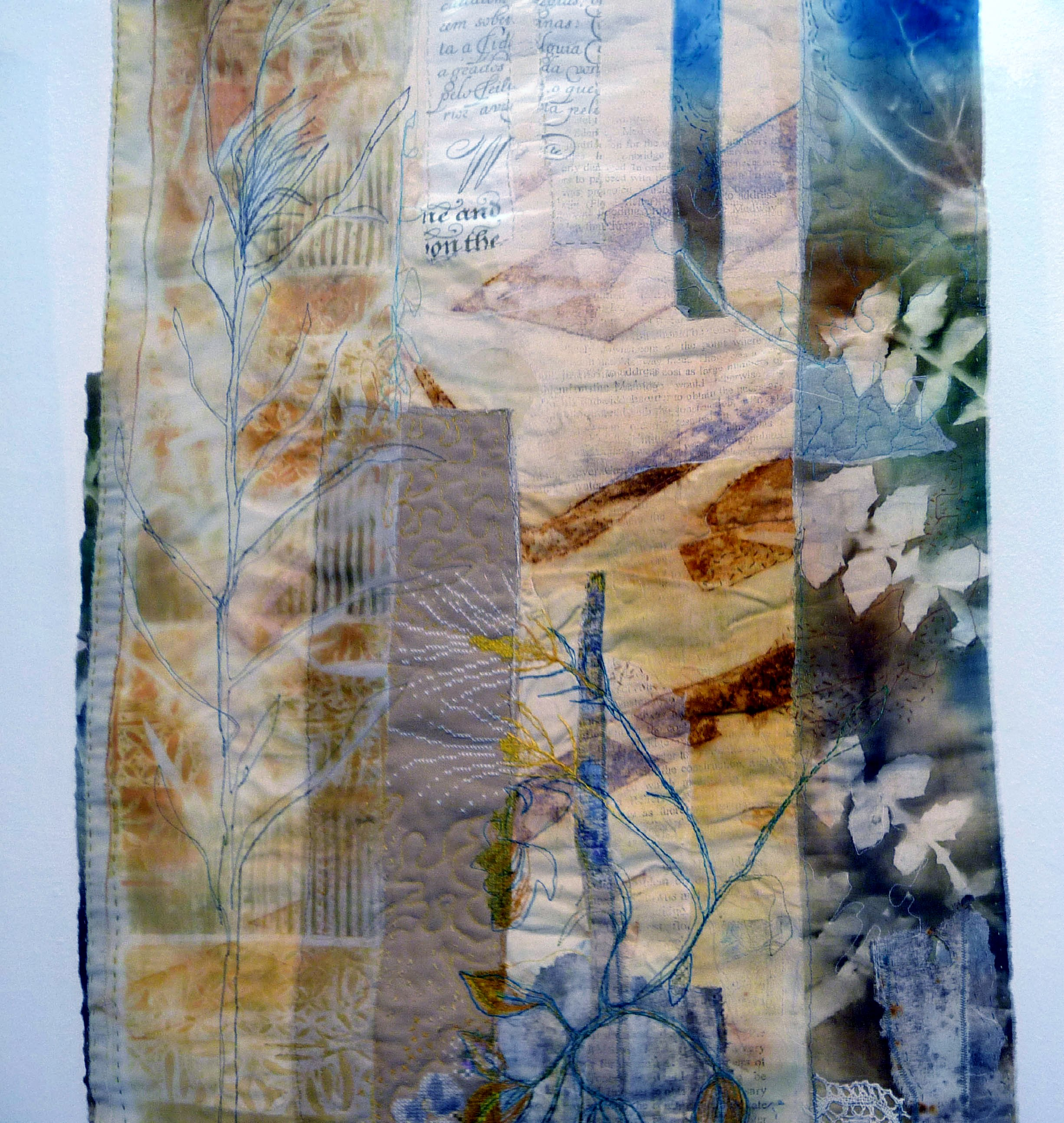 entry to Capability Brown Festival with Embroiderers' Guild, COMMON PLACE - HORRID HILL by Cas Holmes