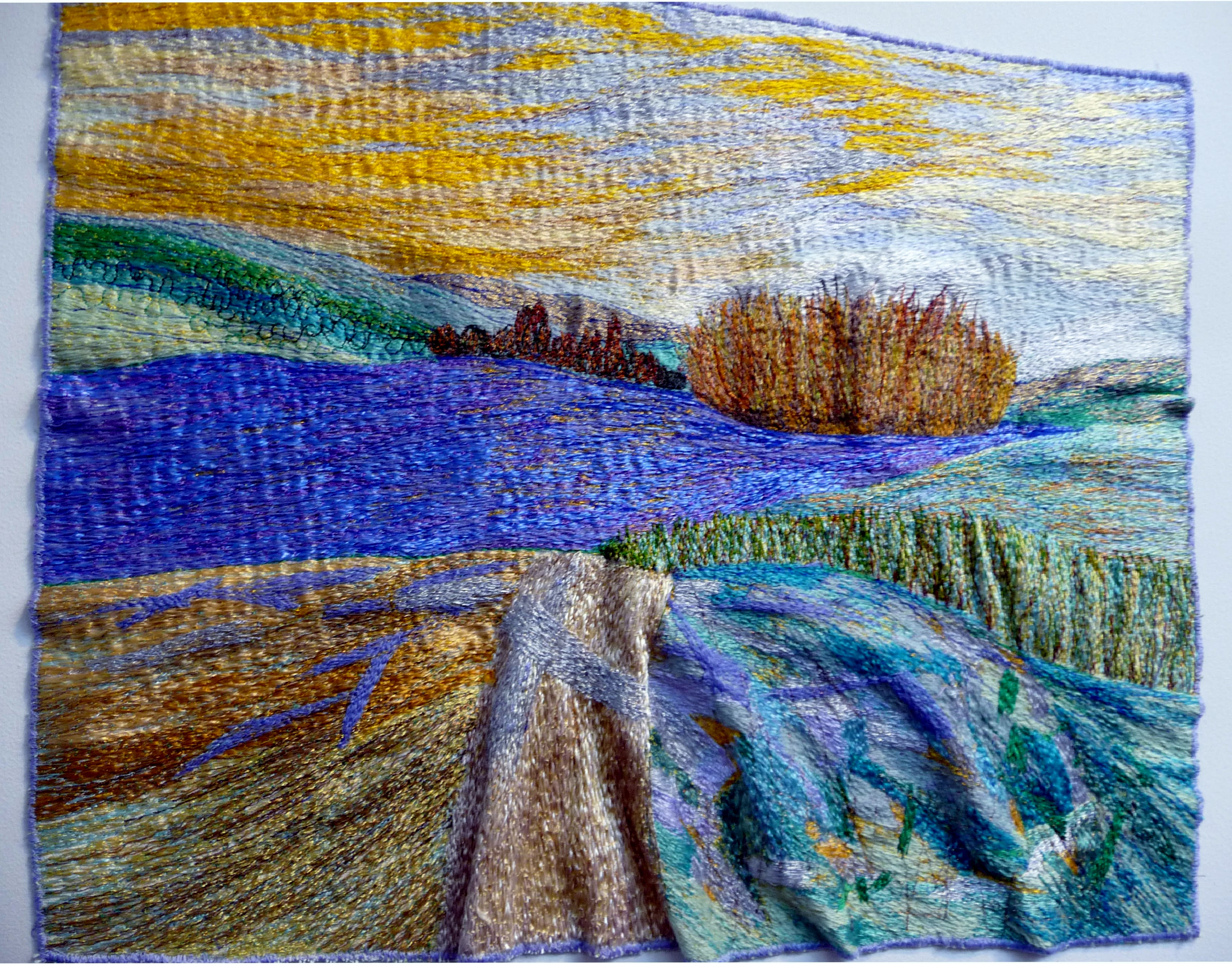 entry to Capability Brown Festival with Embroiderers' Guild, THE LAKE AT PETWORTH by Carol Naylor