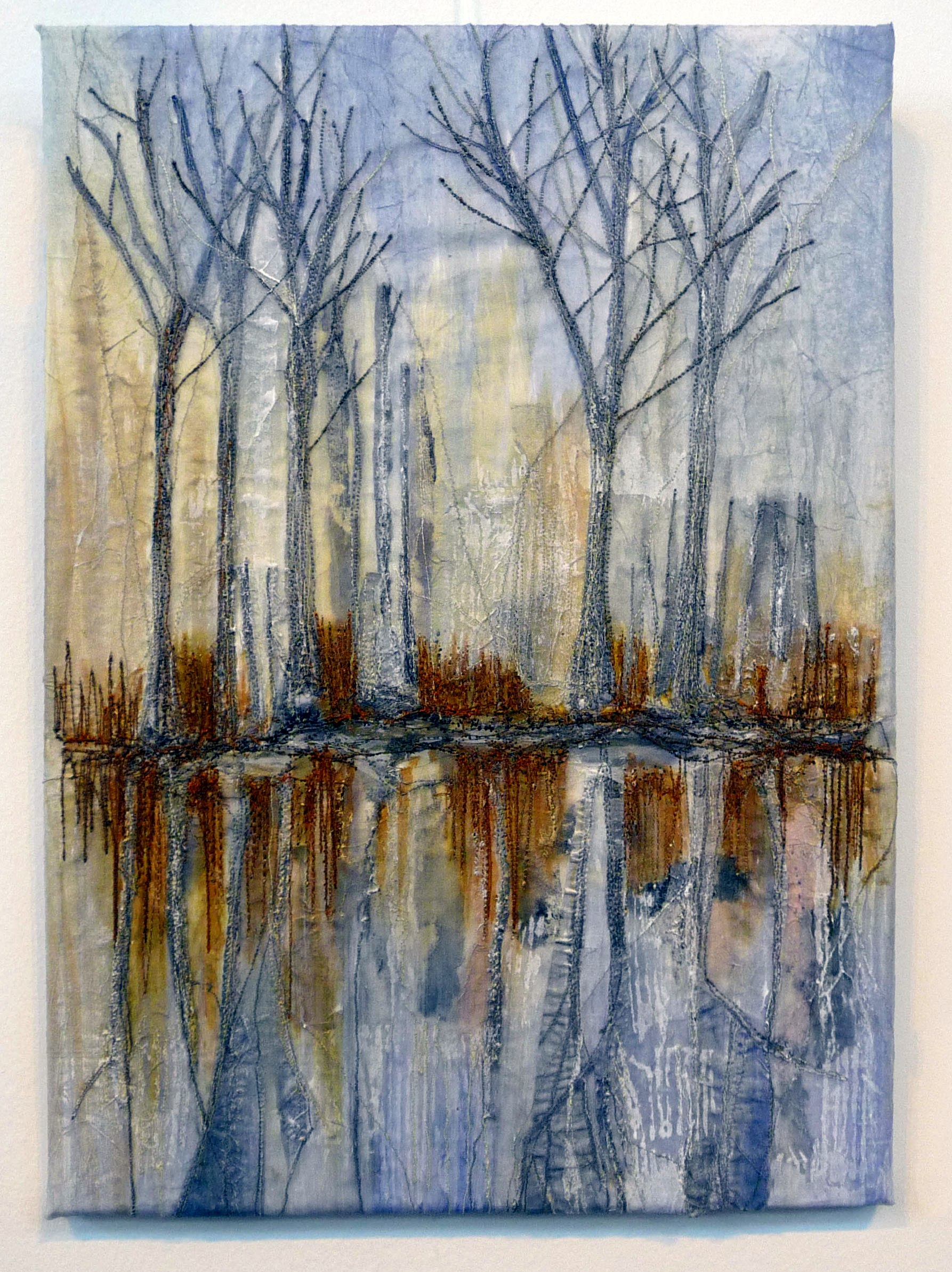 entry to Capability Brown Festival with Embroiderers' Guild, TREES, AUTUMN REFLECTIONS.... by Amanda Hislop