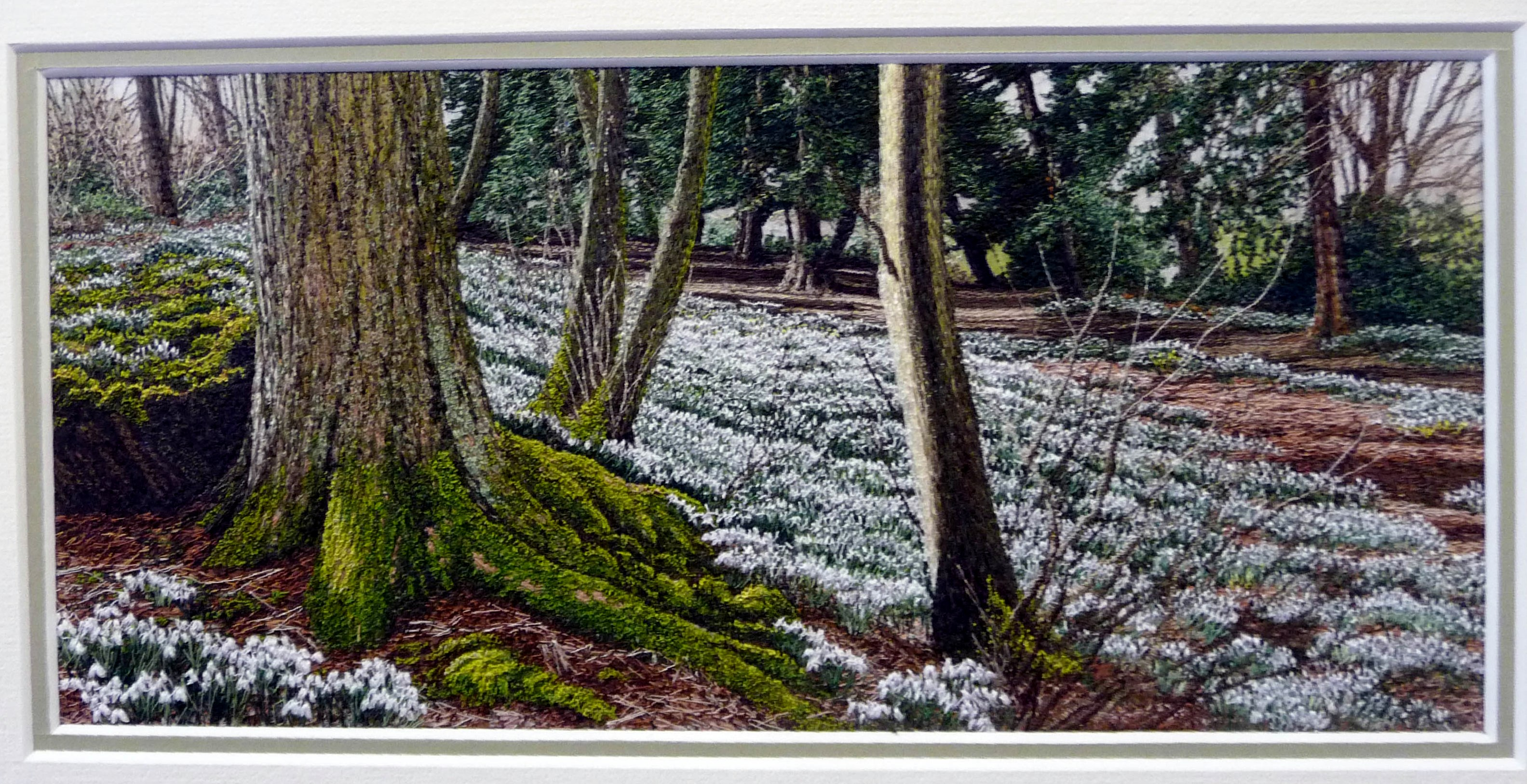 entry to Capability Brown Festival with Embroiderers' Guild, AMONGST THE SNOWDROPS by Alison Holt