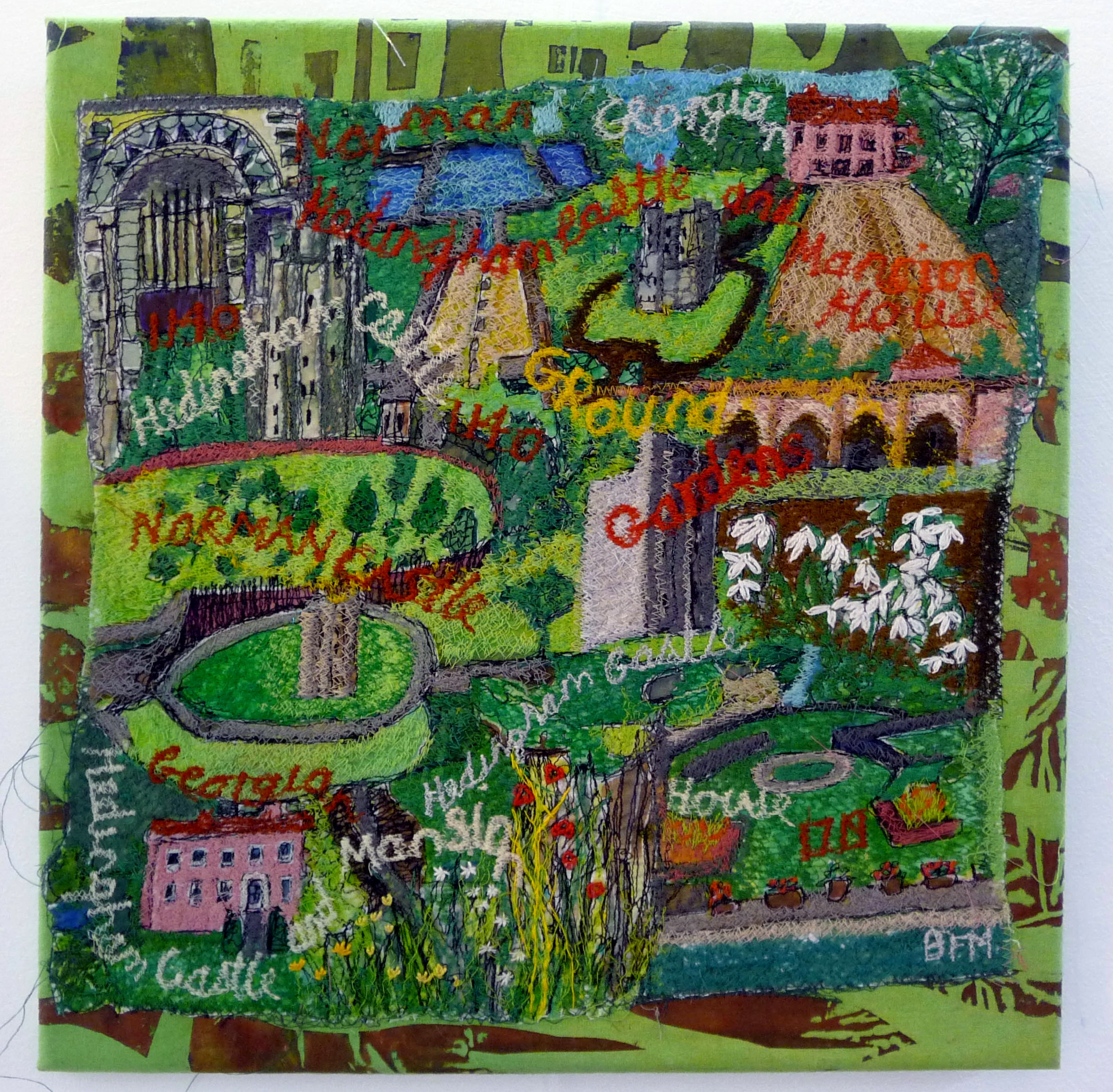 entry to Capability Brown Festival with Embroiderers' Guild, HEDINGHAM CASTLE by Betty Fraser Myerscough