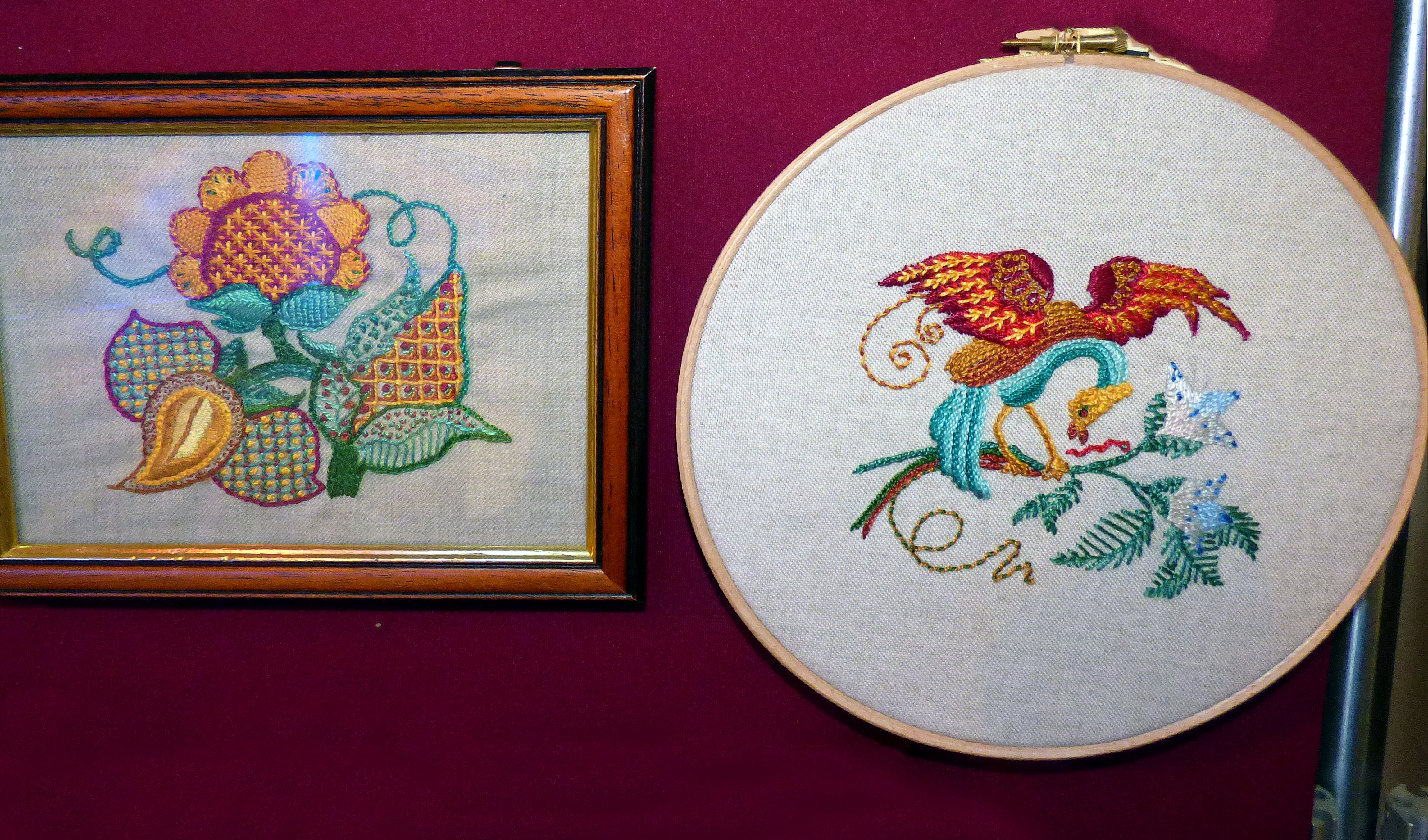 CREWELWORK, at Embroidery for Pleasure exhibition, Liverpool Metropolitan Cathedral 2016