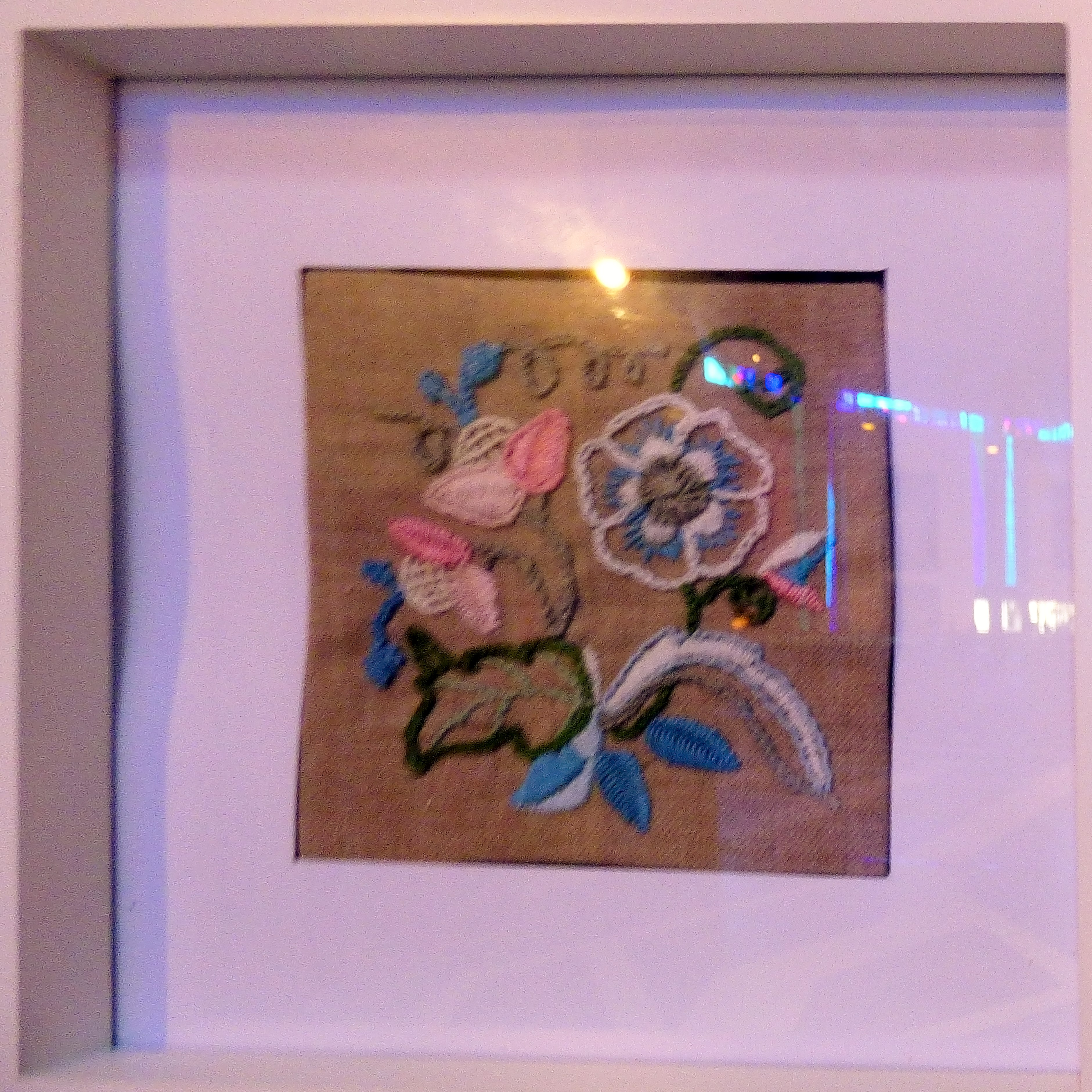 CREWELWORK by S.Everitt, at Embroidery for Pleasure exhibition, Liverpool Metropolitan Cathedral 2016