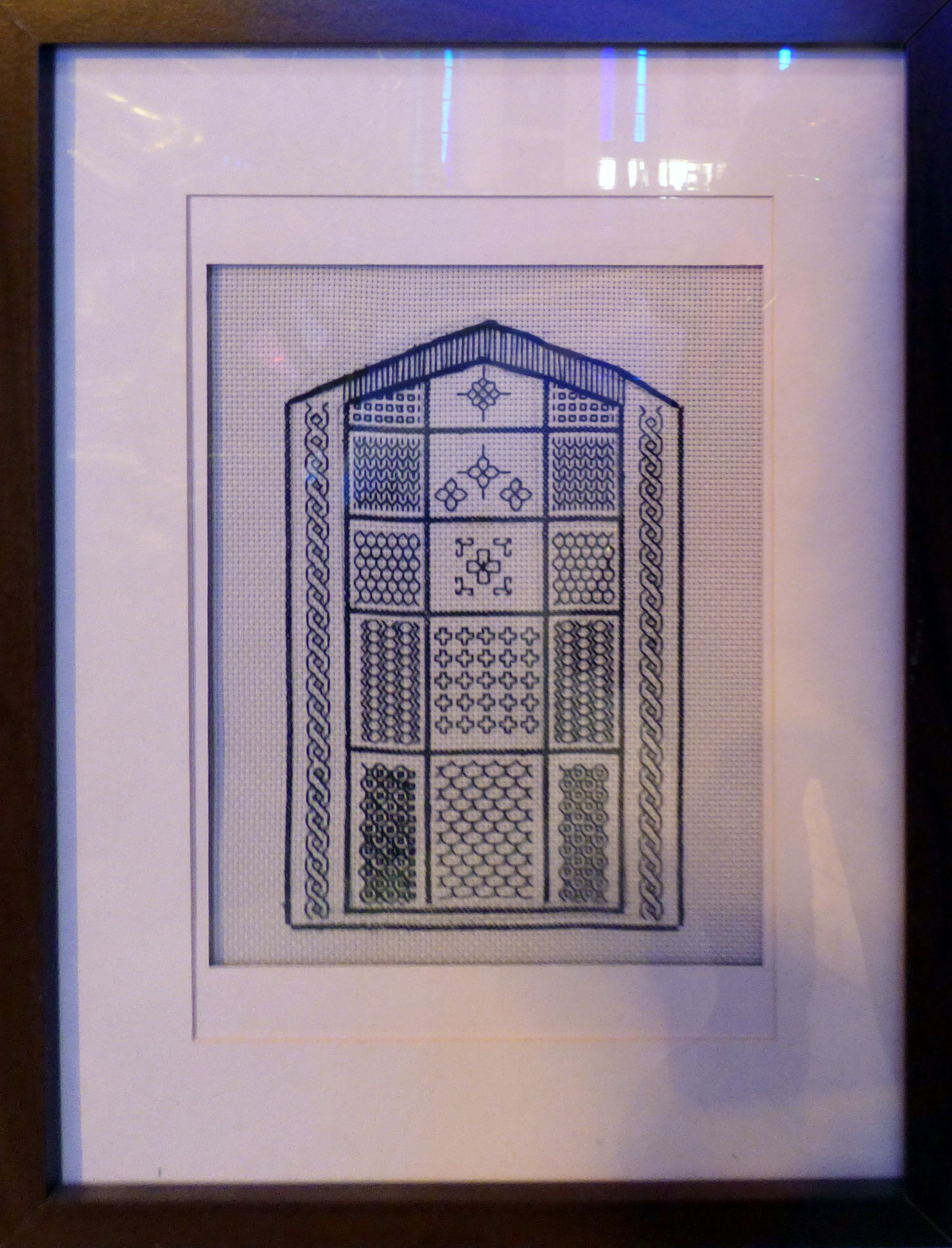 BLACKWORK , at Embroidery for Pleasure exhibition, Liverpool Metropolitan Cathedral 2016