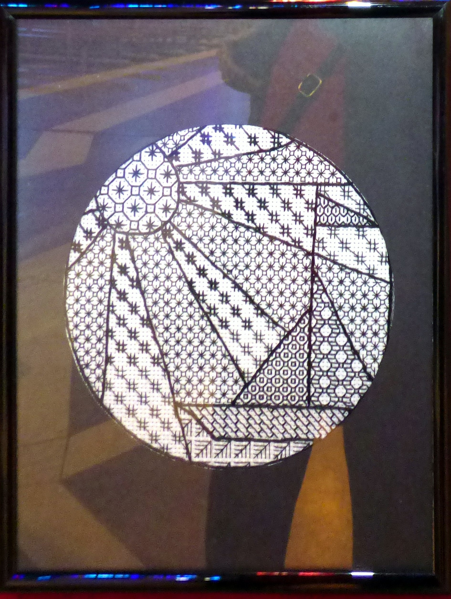BLACKWORK by A.Kefford, at Embroidery for Pleasure exhibition, Liverpool Metropolitan Cathedral 2016