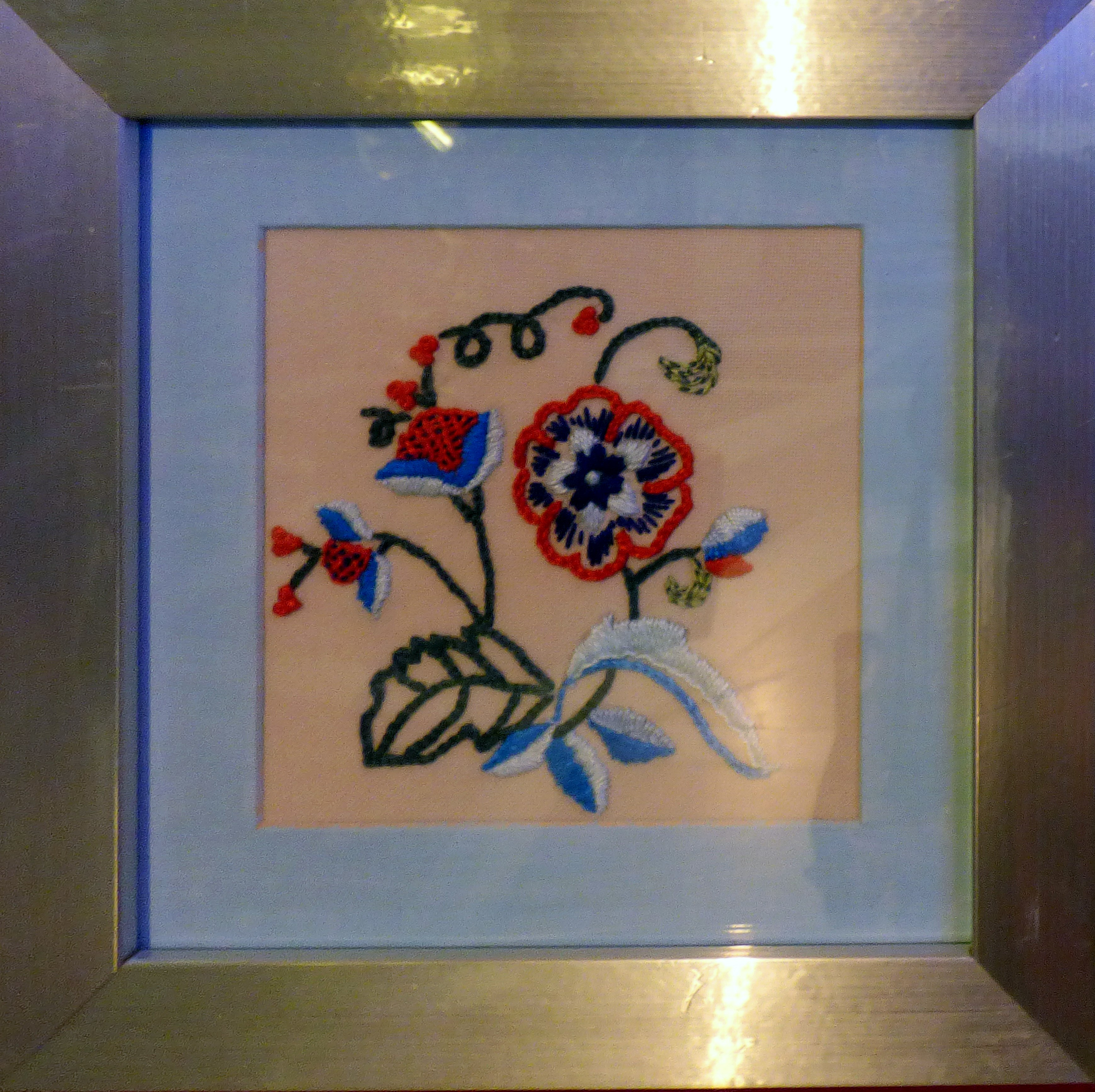 CREWELWORK by K.Green, at Embroidery for Pleasure exhibition, Liverpool Metropolitan Cathedral 2016
