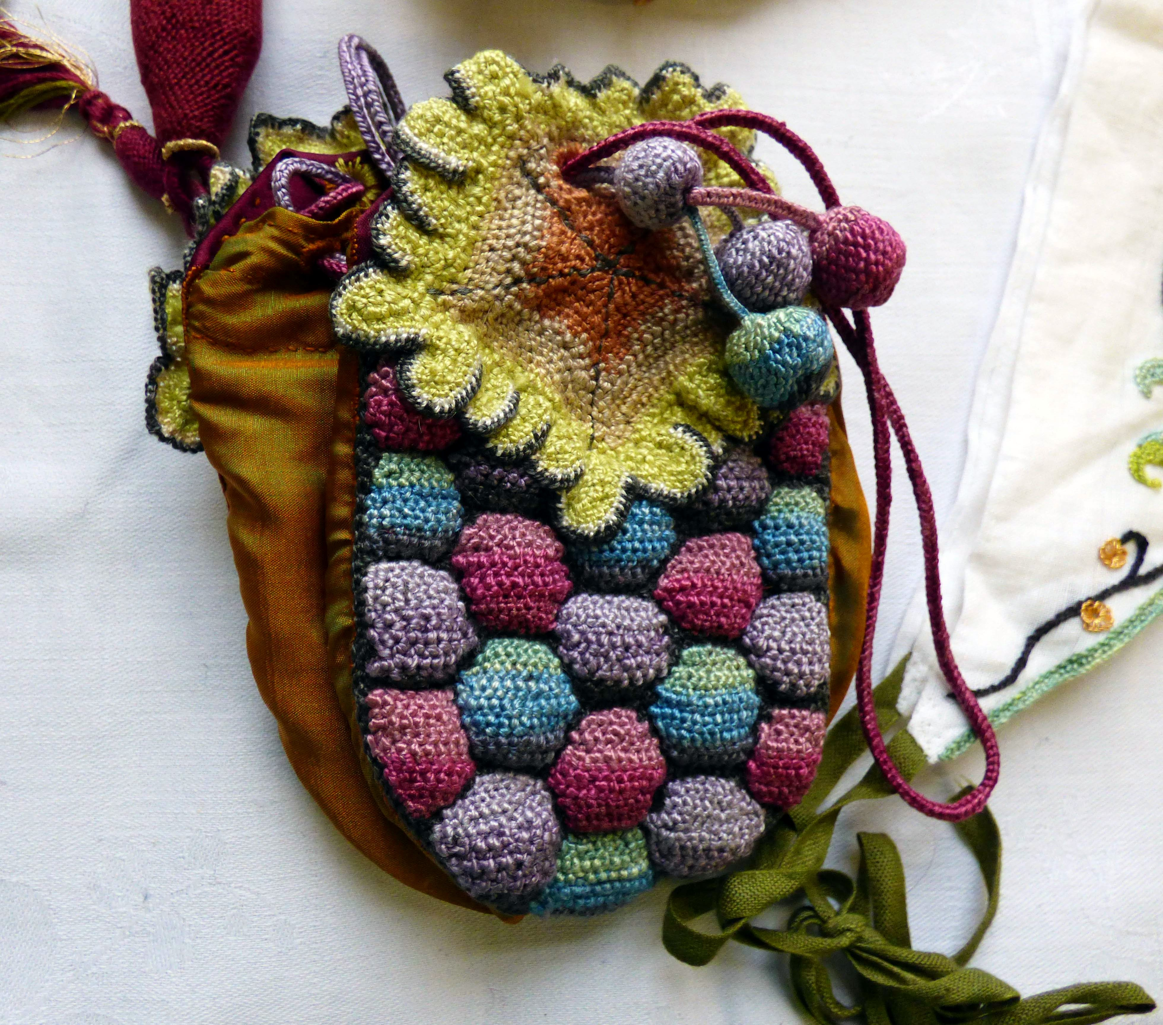 embroidered purse by Carolyn  Richardson, Embroidery of the Jacobean era, Jan 2019