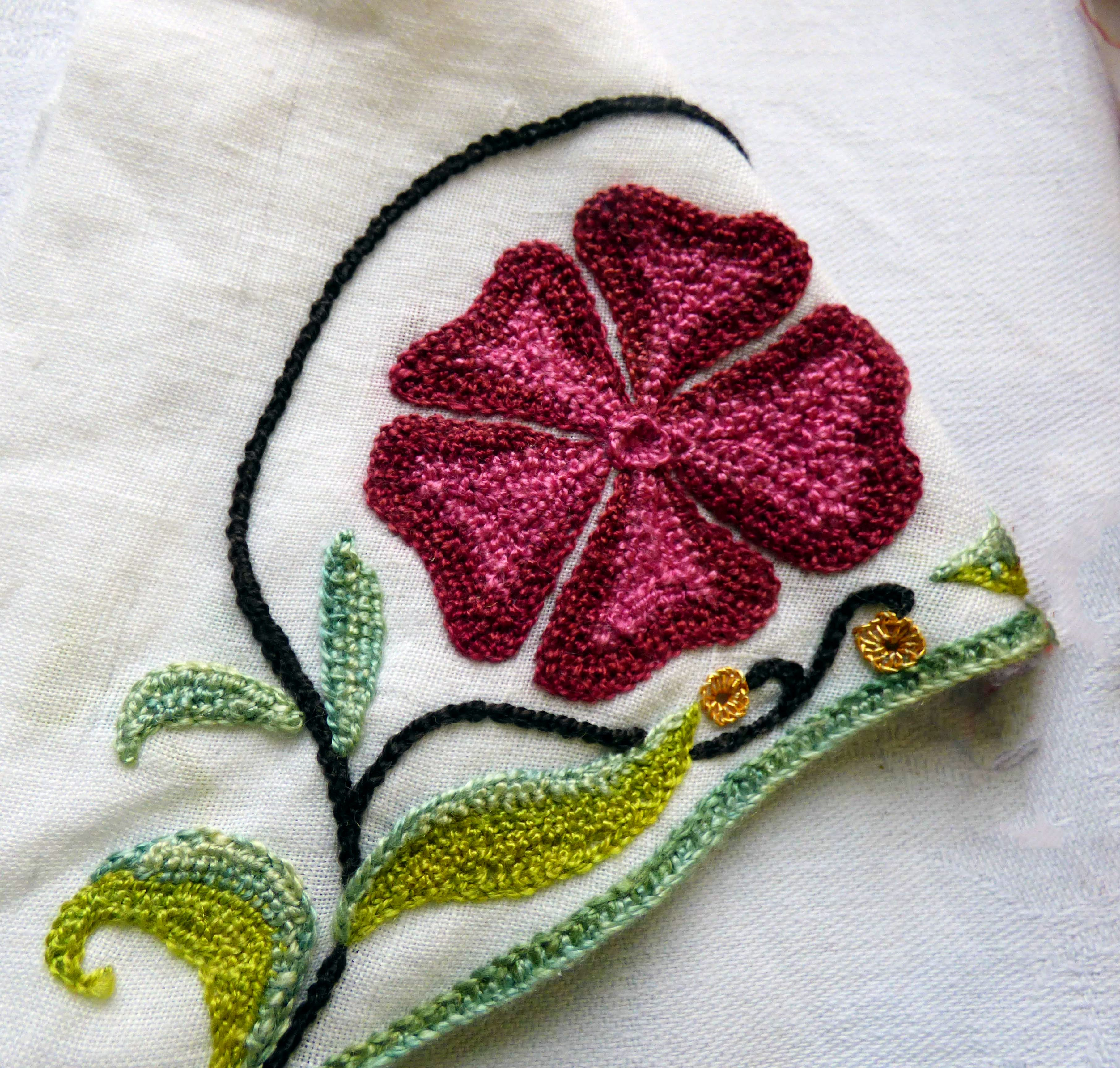 embroidery by Carolyn Richardson, Embroidery of the Jacobean era, Jan 2019