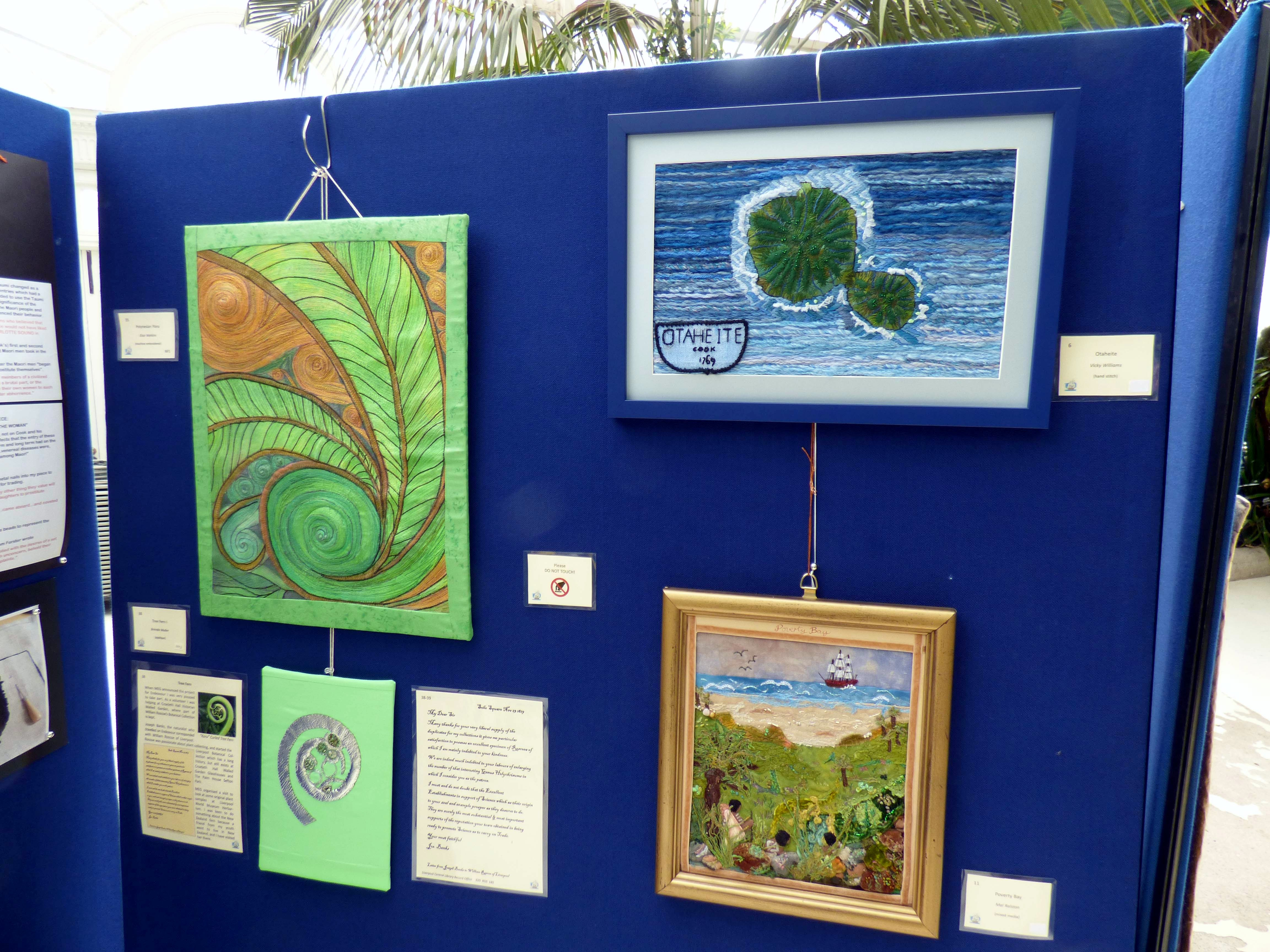 section of Endeavour exhibition at Sefton Park Palm House 2019