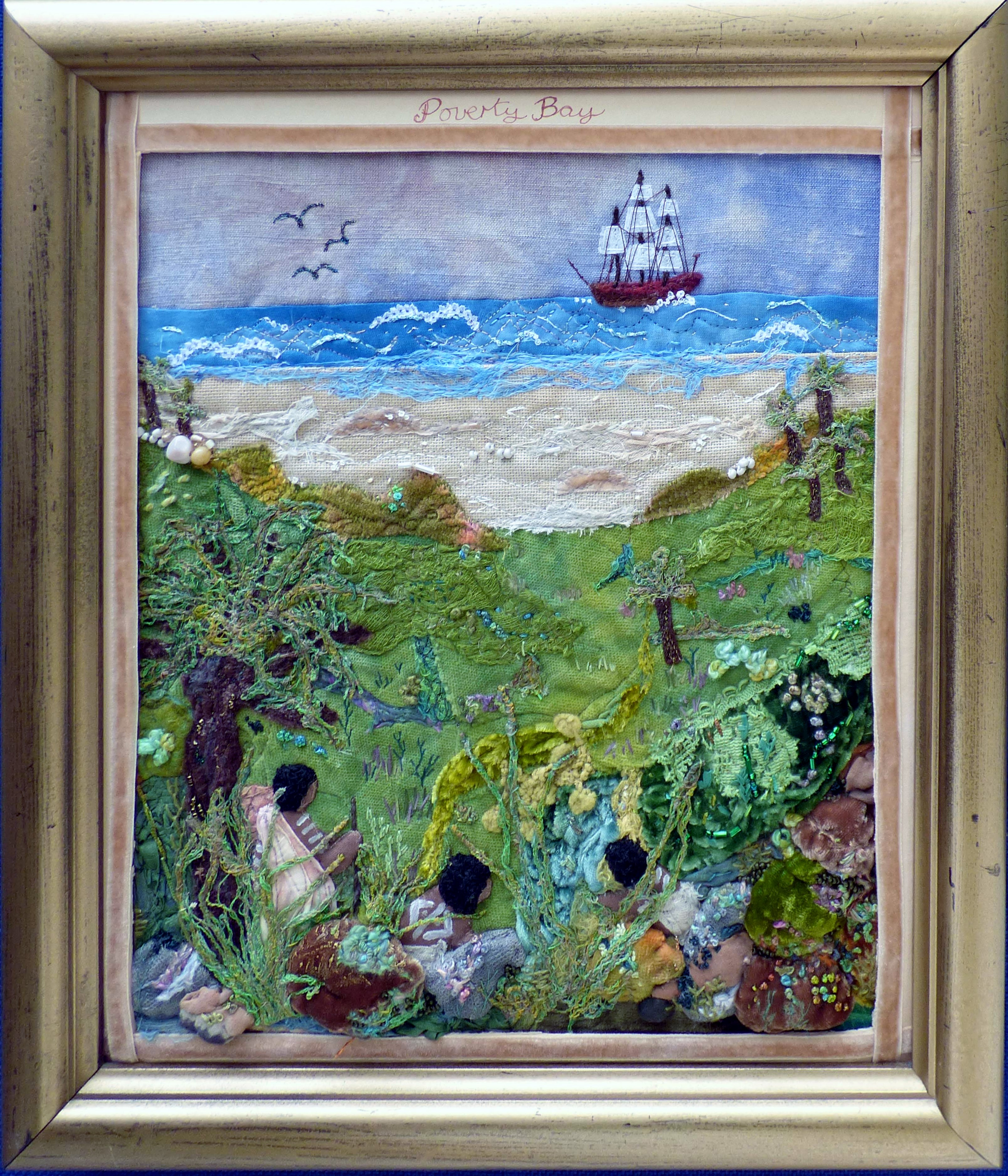 POVERTY BAY by Mal Ralston, Endeavour exhibition at Sefton Park Palm House 2019