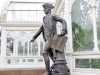 statue of Captain Cook outside Sefton Park Palm House