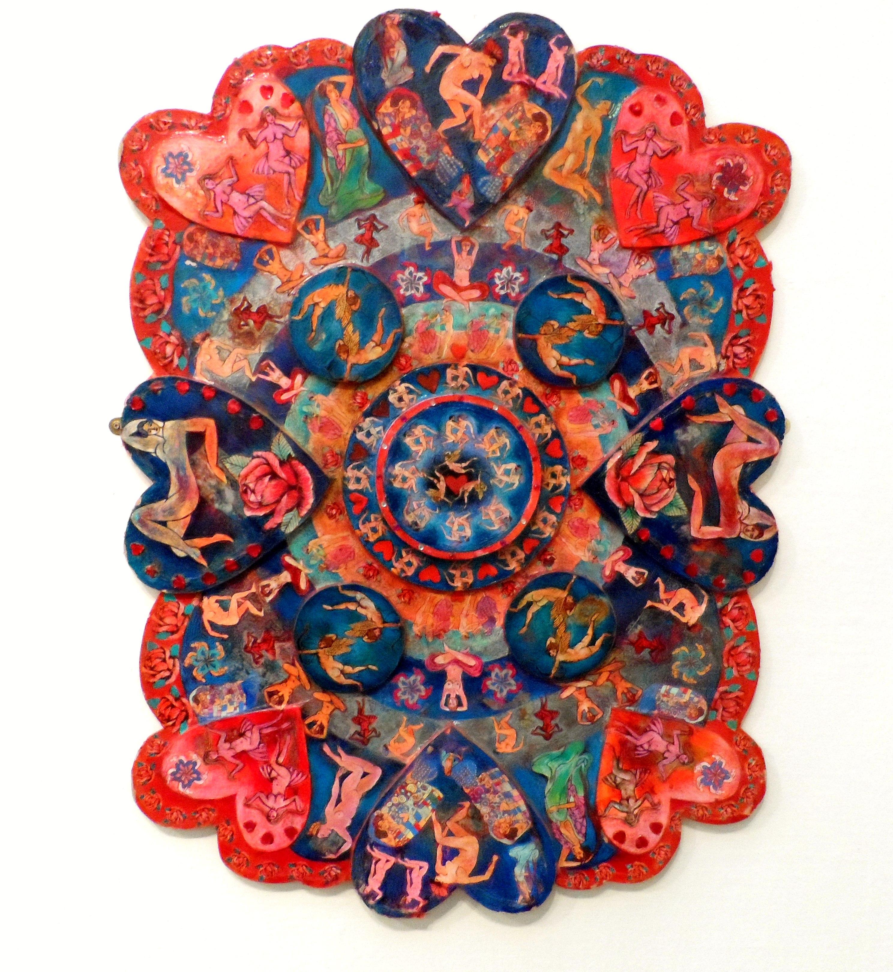 LOVE MANDALA by Nikki Parmenter, Williamson Gallery, 2019