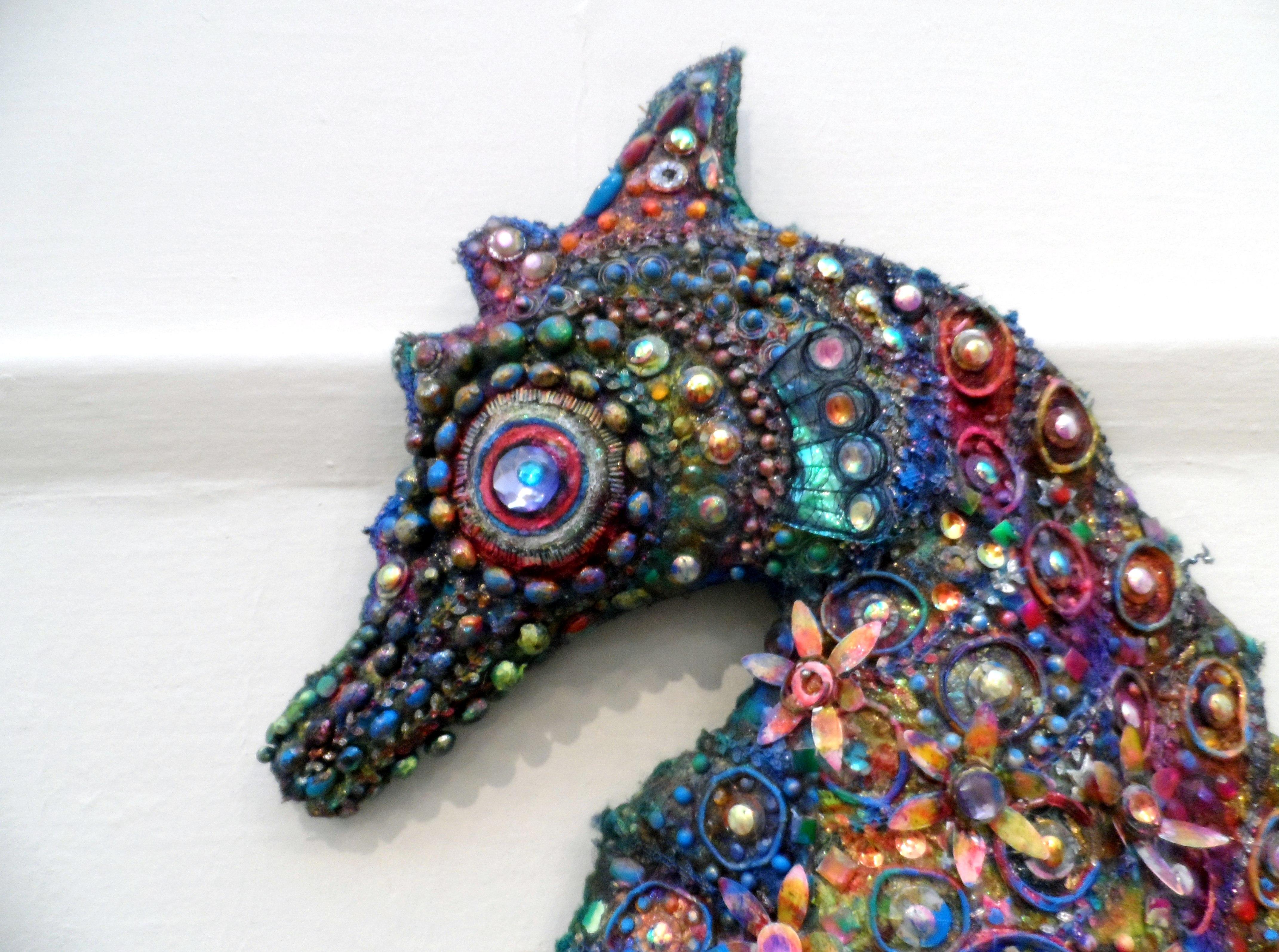 (detail) SEAHORSE by Nikki Parmenter, Williamson Gallery, 2019