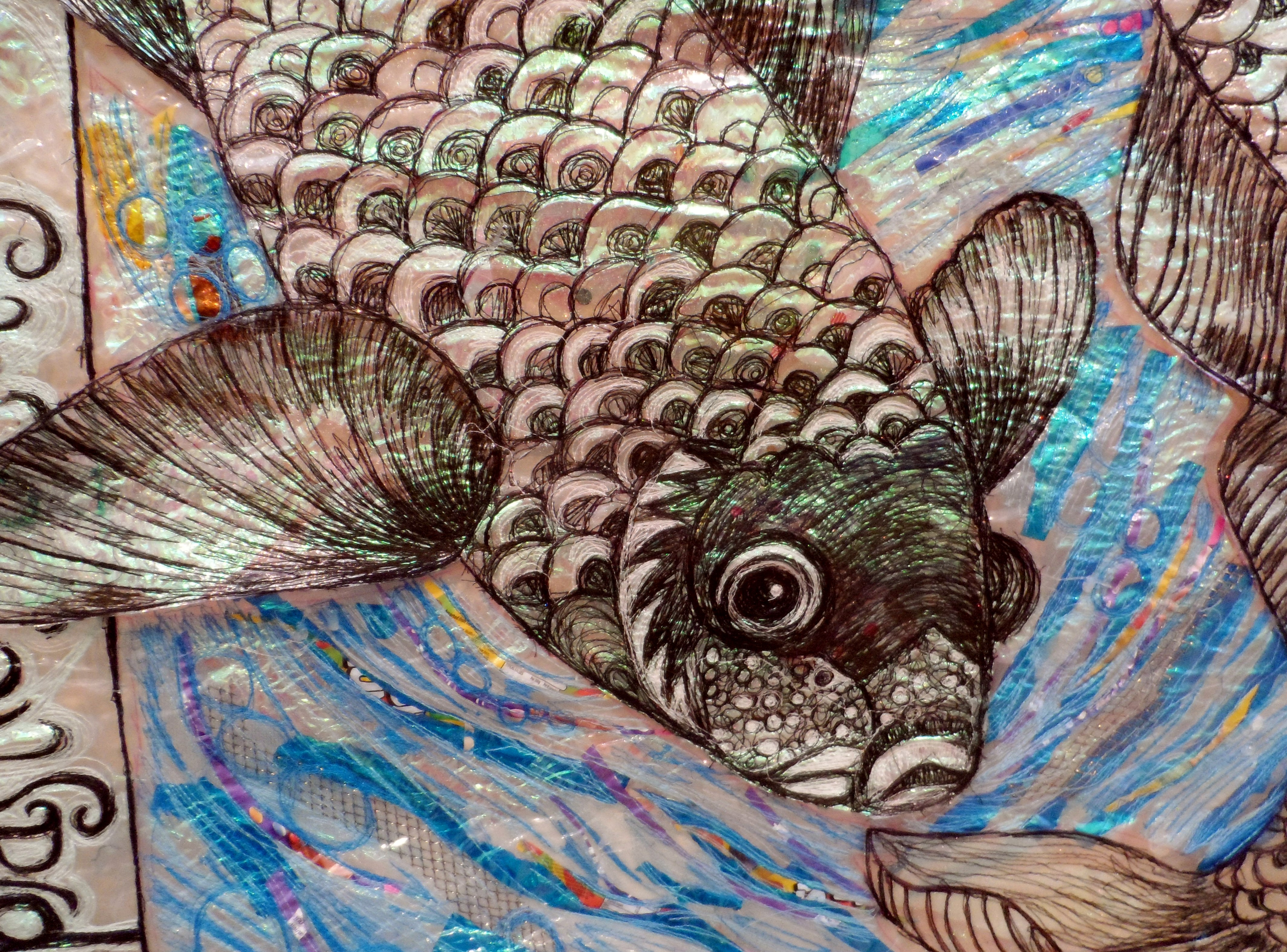(detail) AND TWO FISHES by Nikki Parmenter, Williamson Gallery, 2019
