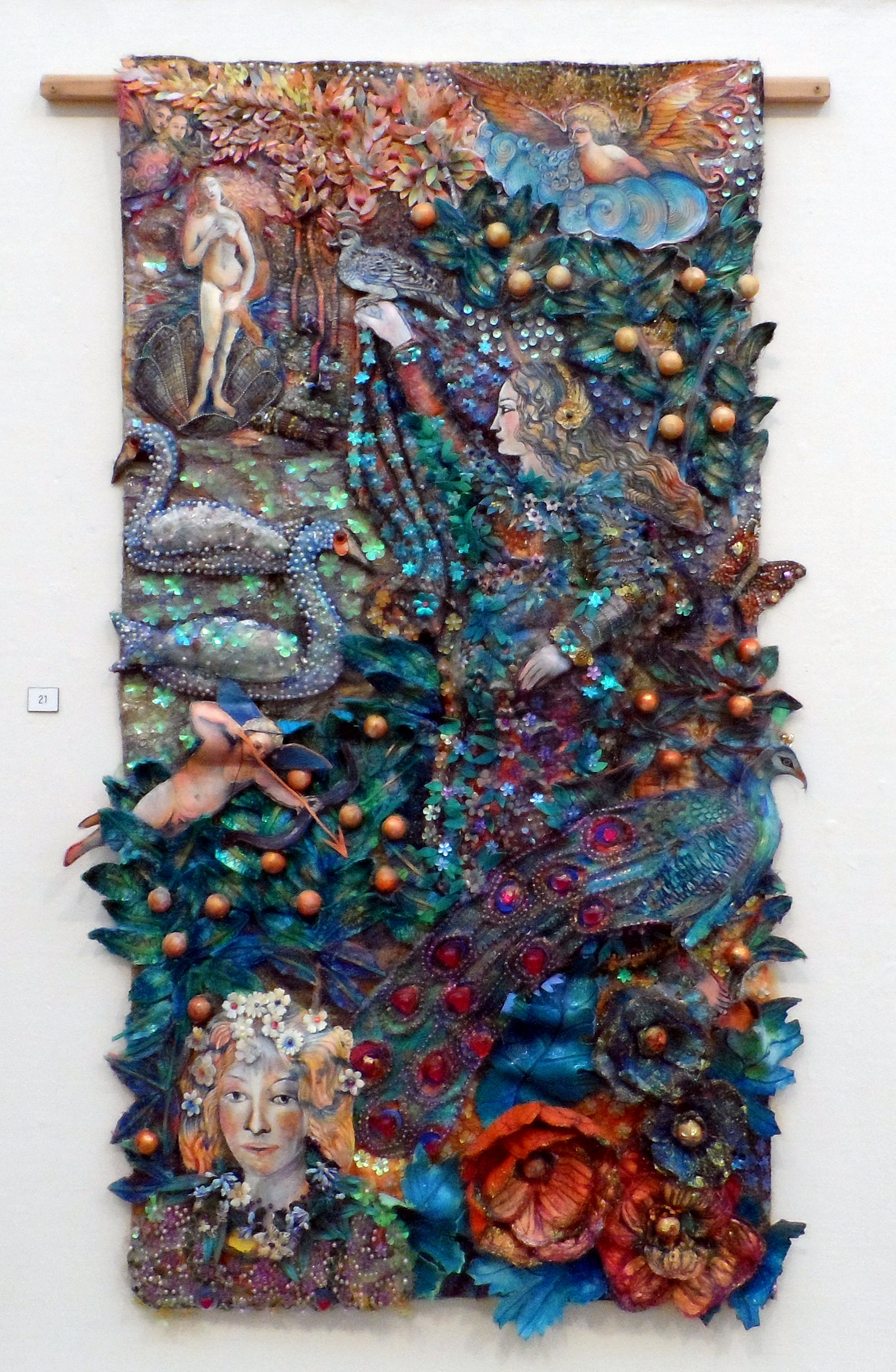 BOTTICELLI QUILT by Nikki Parmenter, Williamson Gallery, 2019