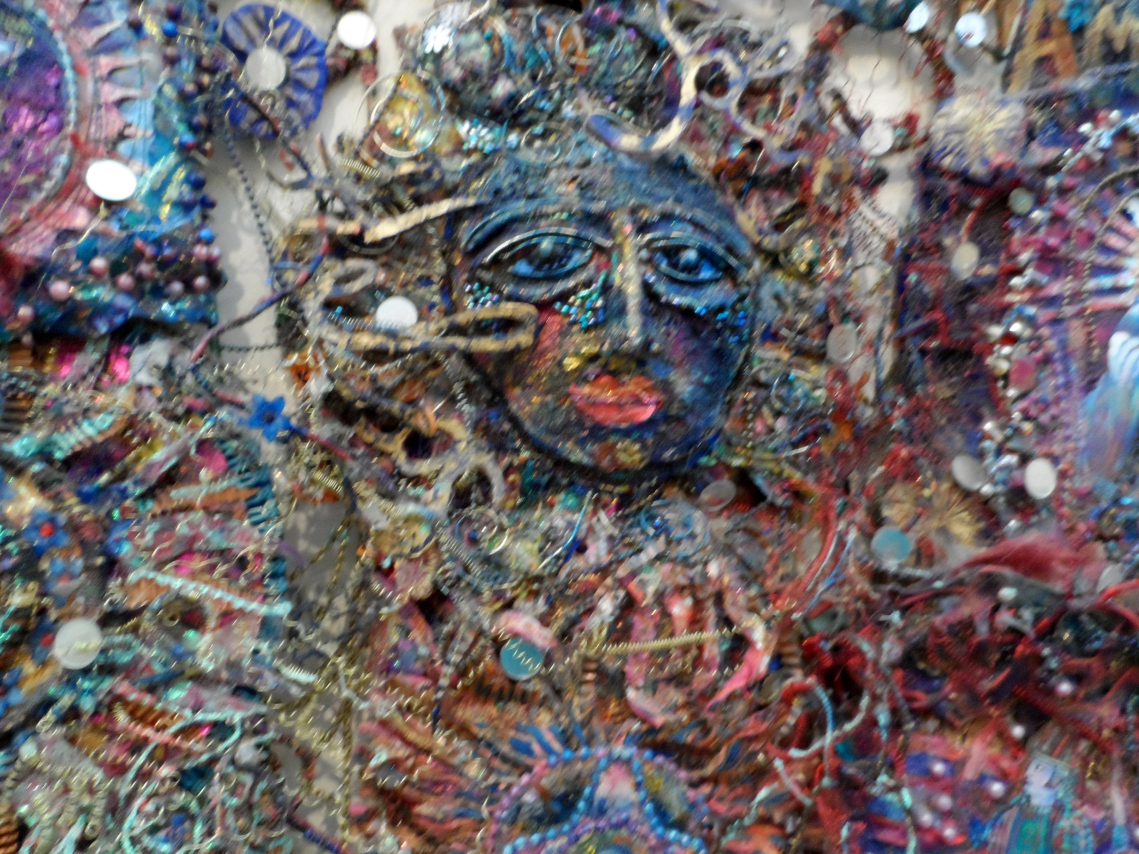 (detail) SUN FAN   by Nikki Parmenter, Williamson Gallery, 2019