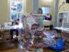 """Nikki Parmenter with her embroidery at """"Fantastic Fish"""" workshop by Nikki Parmenter"""