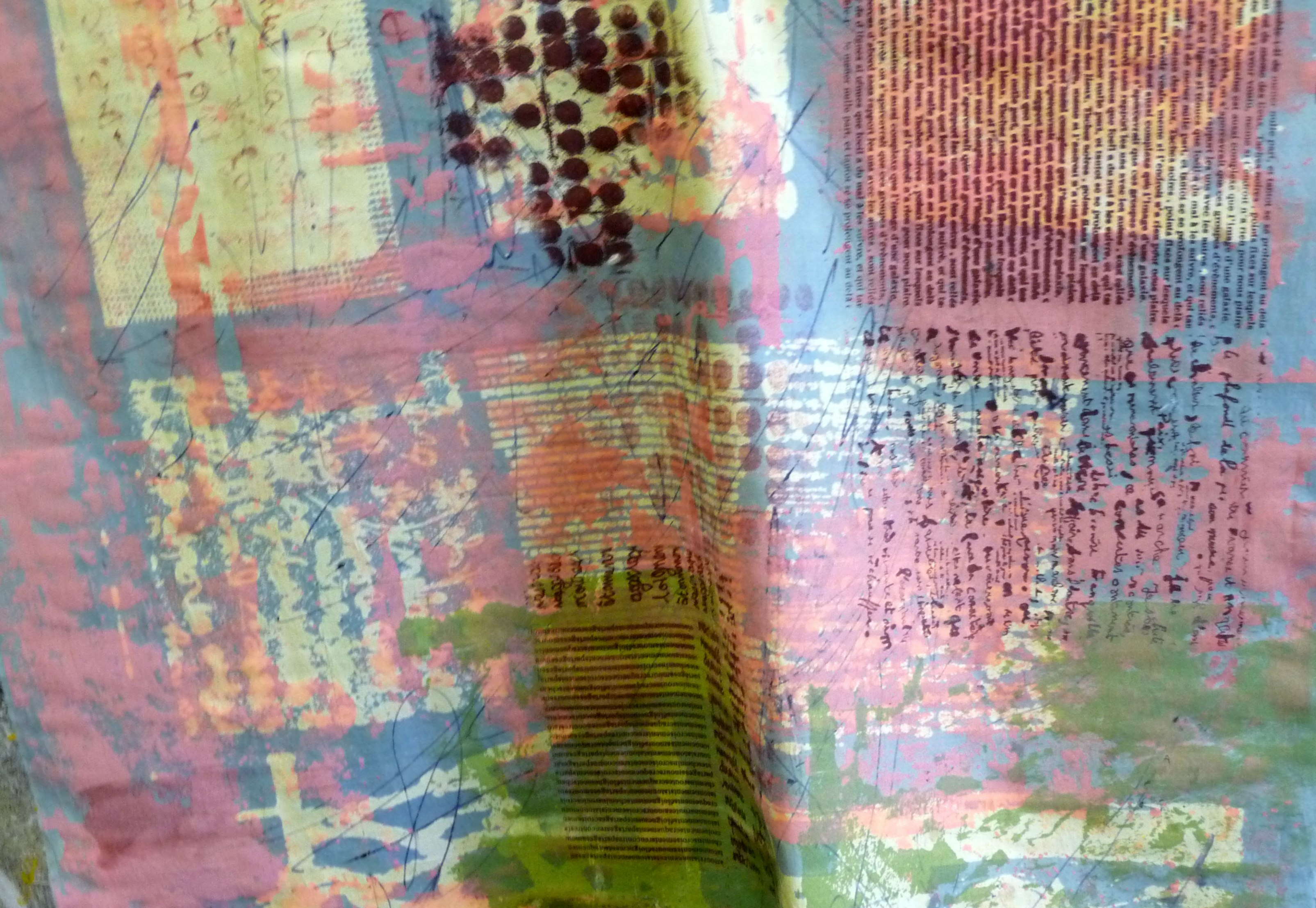 silk screen printed textile by Christine Toh